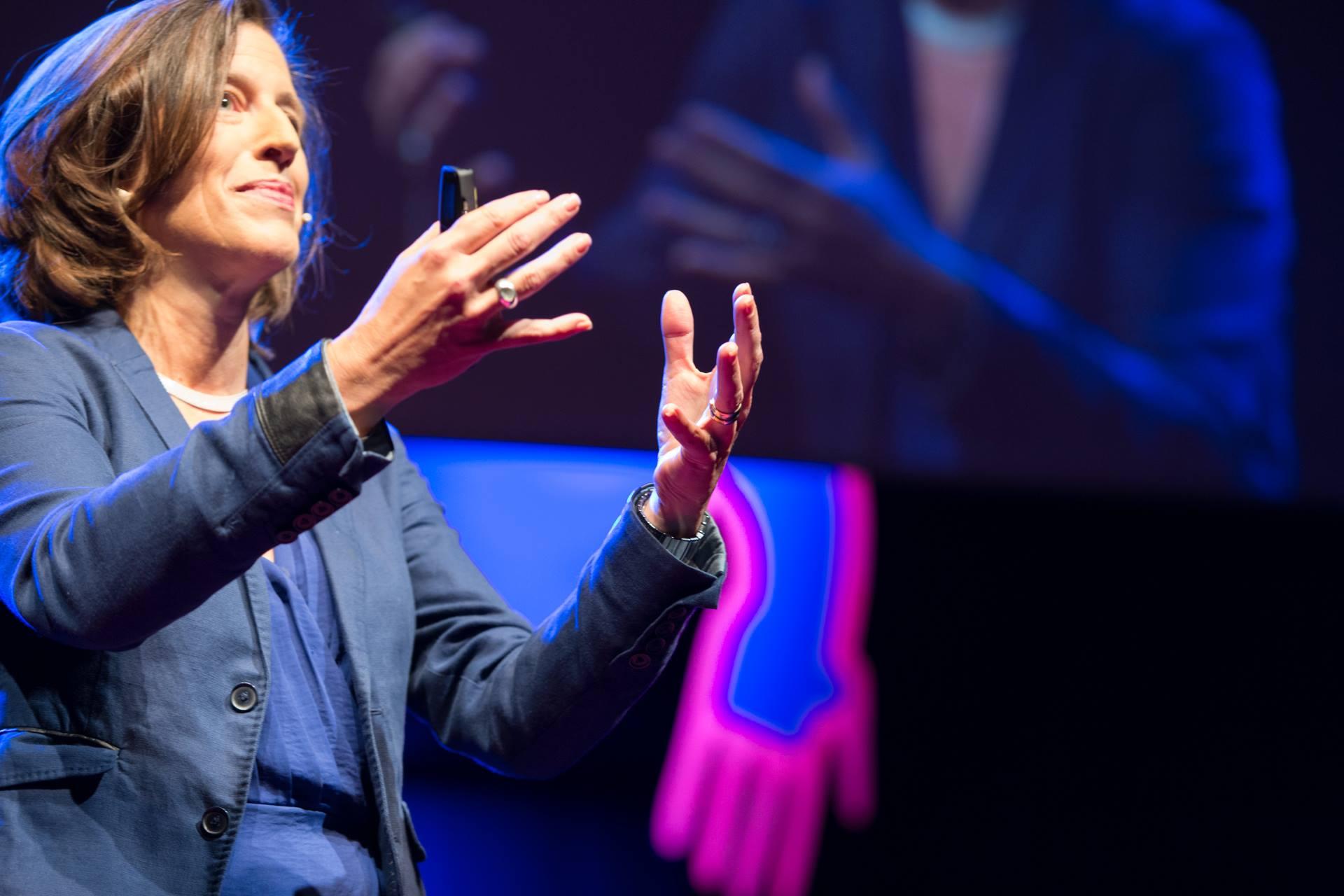 Melissa Fleming at TEDxThessaloniki. Photo credit: Vasilis Draganis, Nikos Pappas.