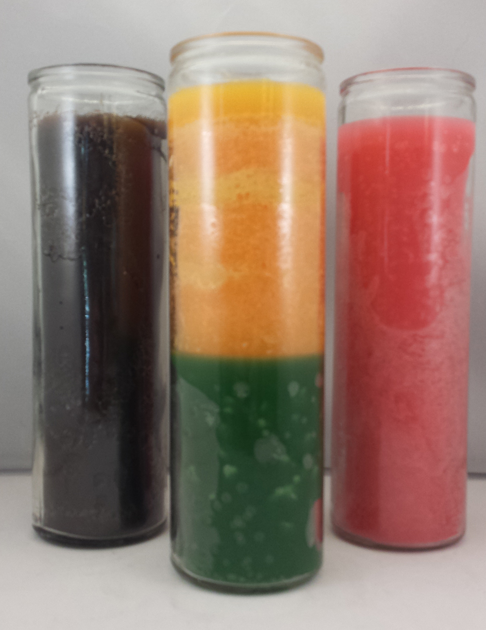 7 -Day Glass-Encased Unlabeled Candles