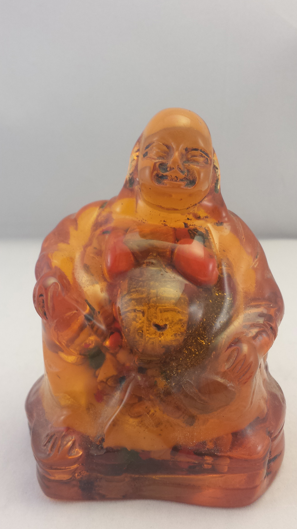 Embedded Acrylic Laughing Buddha