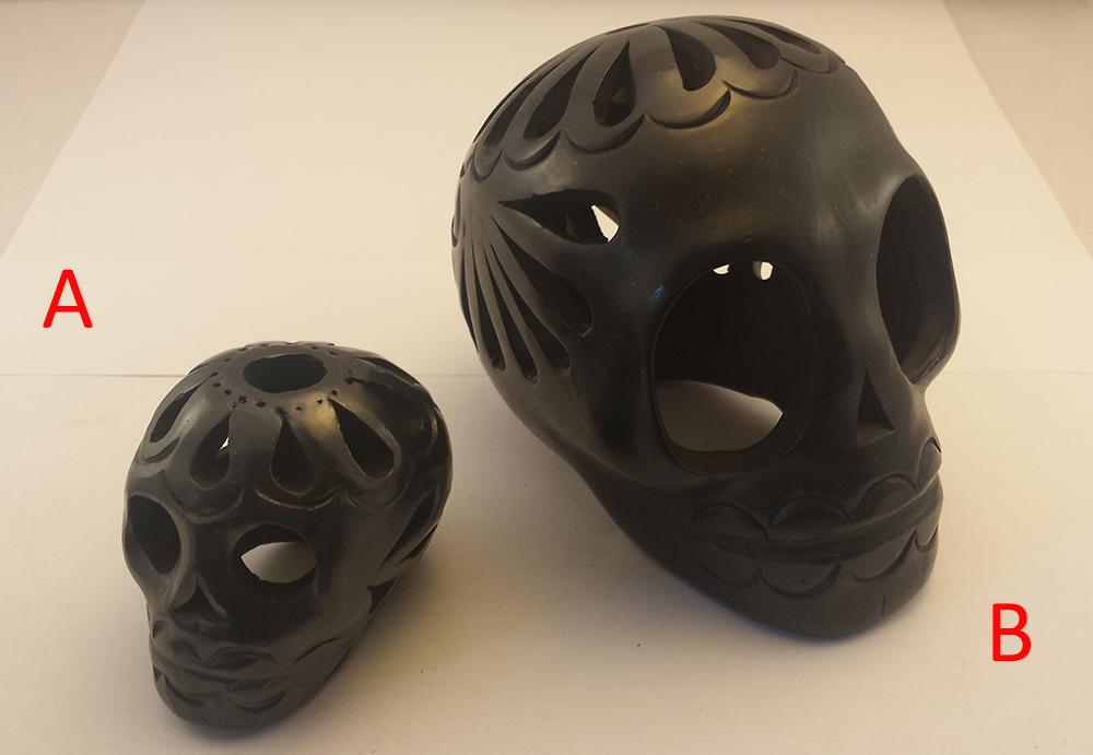 Black Clay Skulls