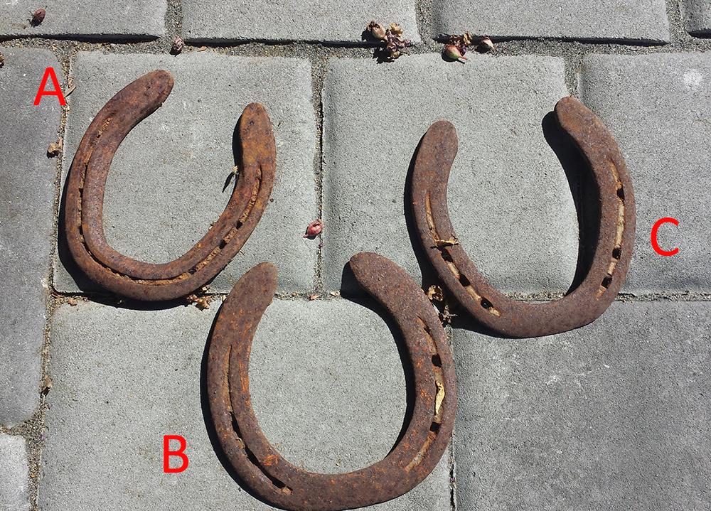 Used Rusted Iron Horseshoes