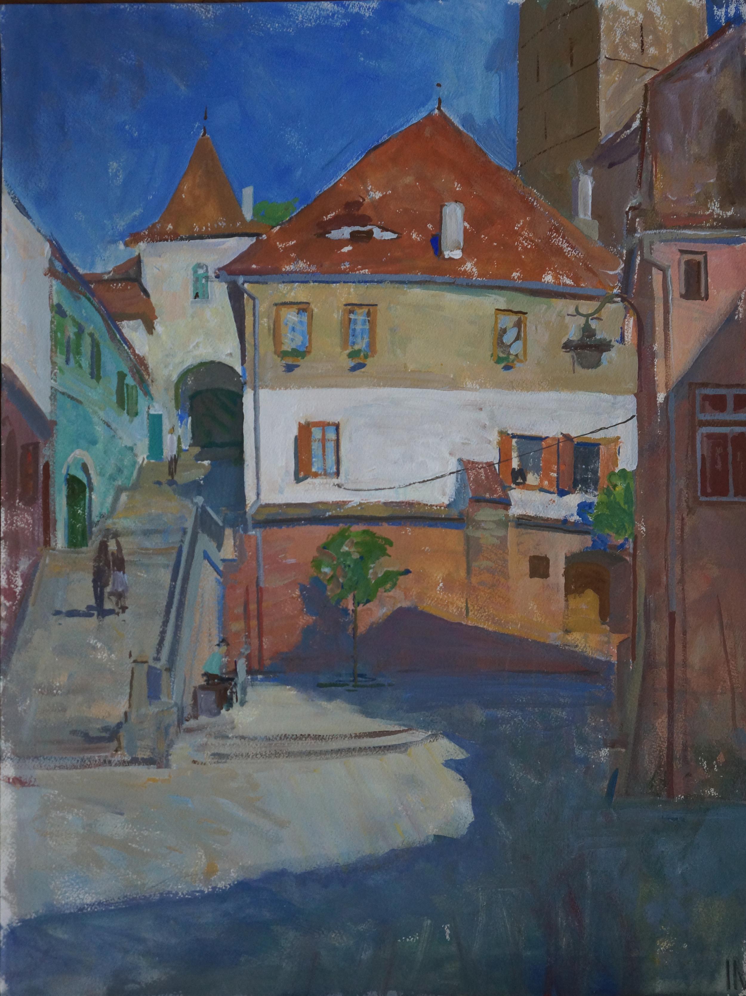 Old Sibiu, Iliya Mirochnik, 18x24.JPG