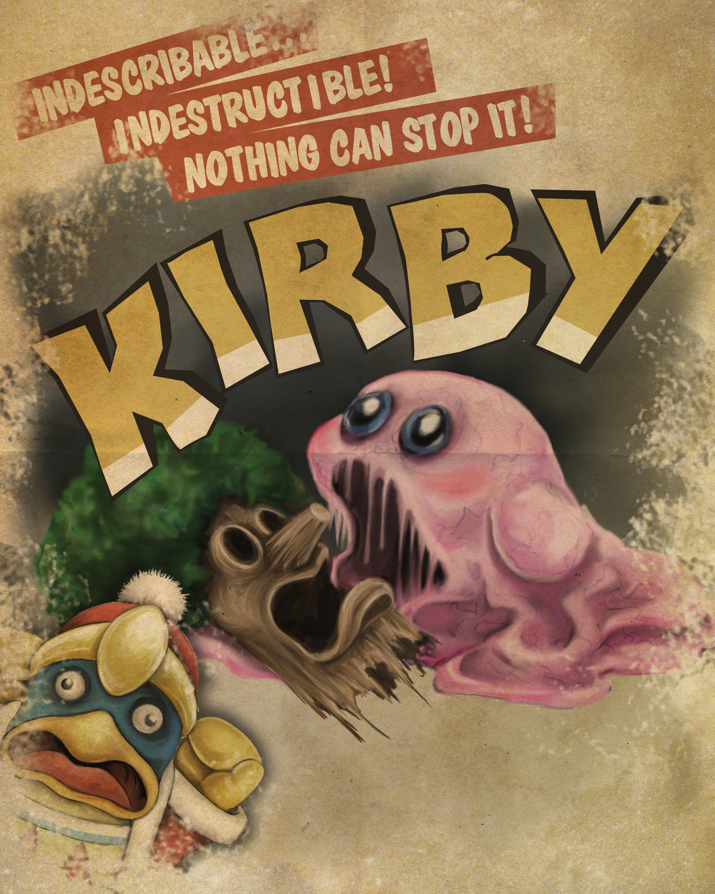 Kirby B-Horror Poster
