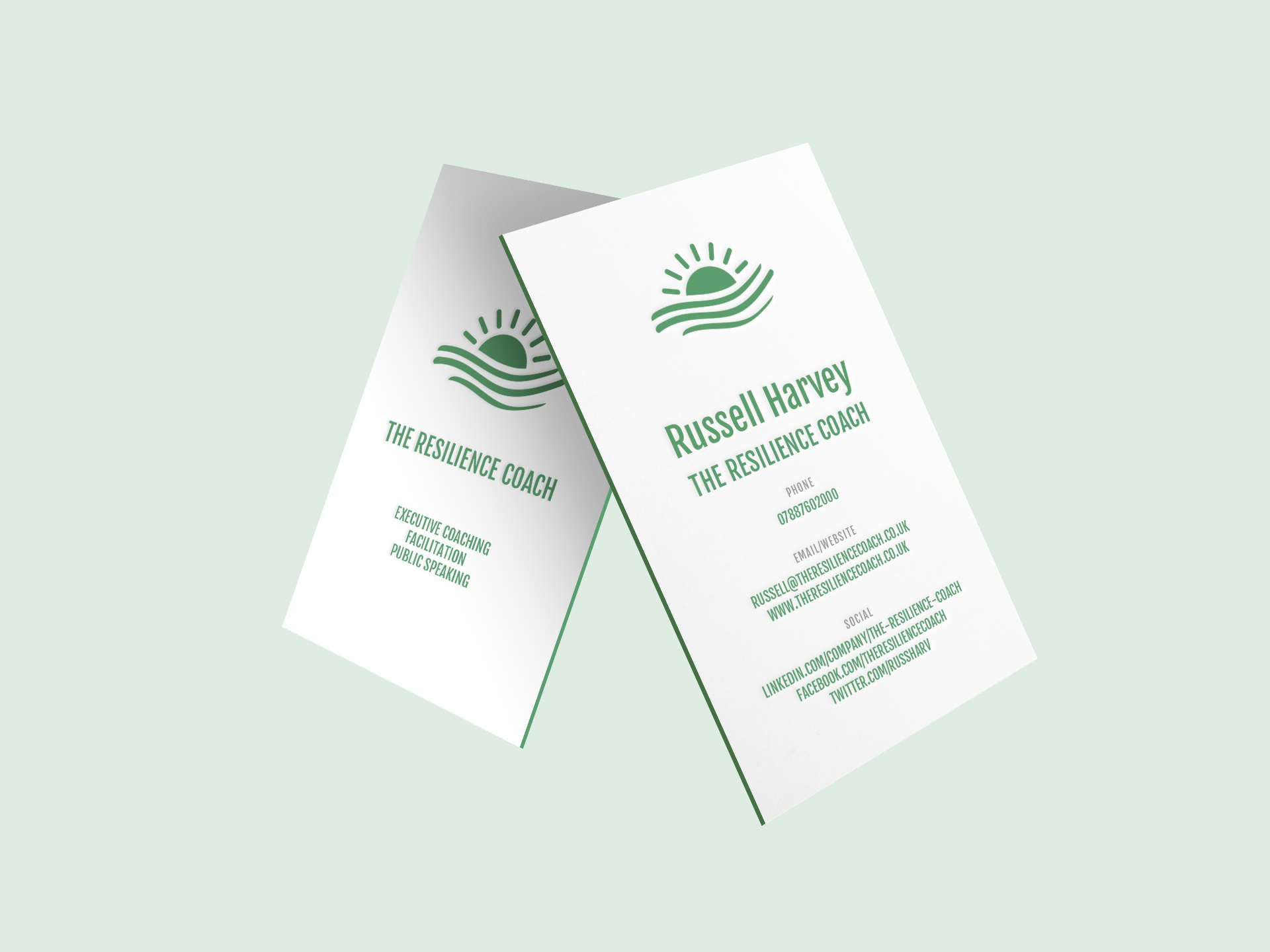 Business cards for The Resilience Coach
