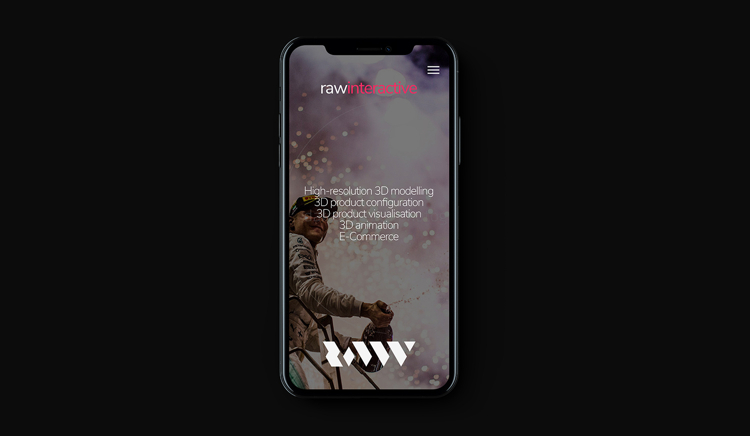 RAW Interactive - RAW iPhone X Mockup - THAT Branding Company - Creative Design and Branding Agency in Newcastle and Gateshead.jpg