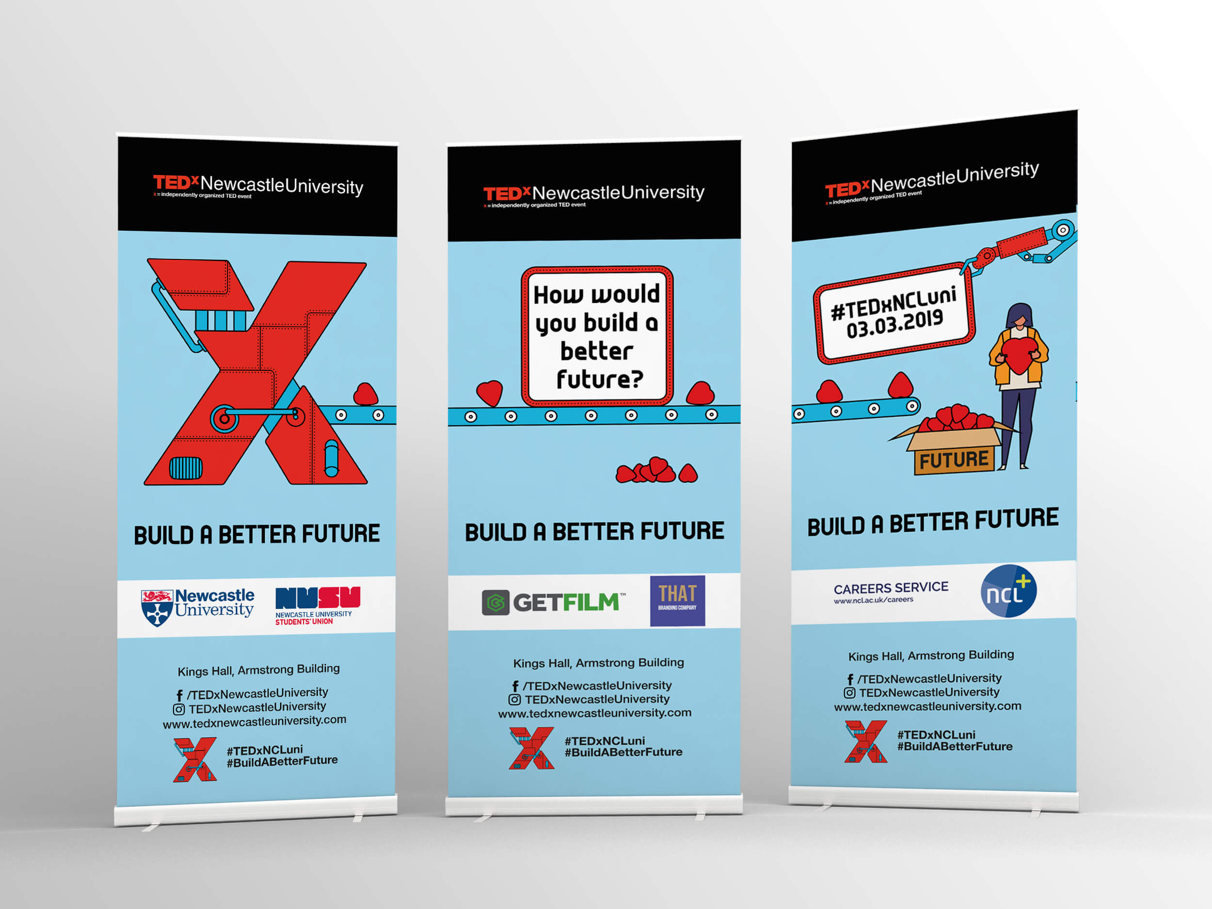 THAT Branding Company - Ethical Creative Design and Branding Agency in Newcastle Gateshead and Durham created the banners used in the conference.