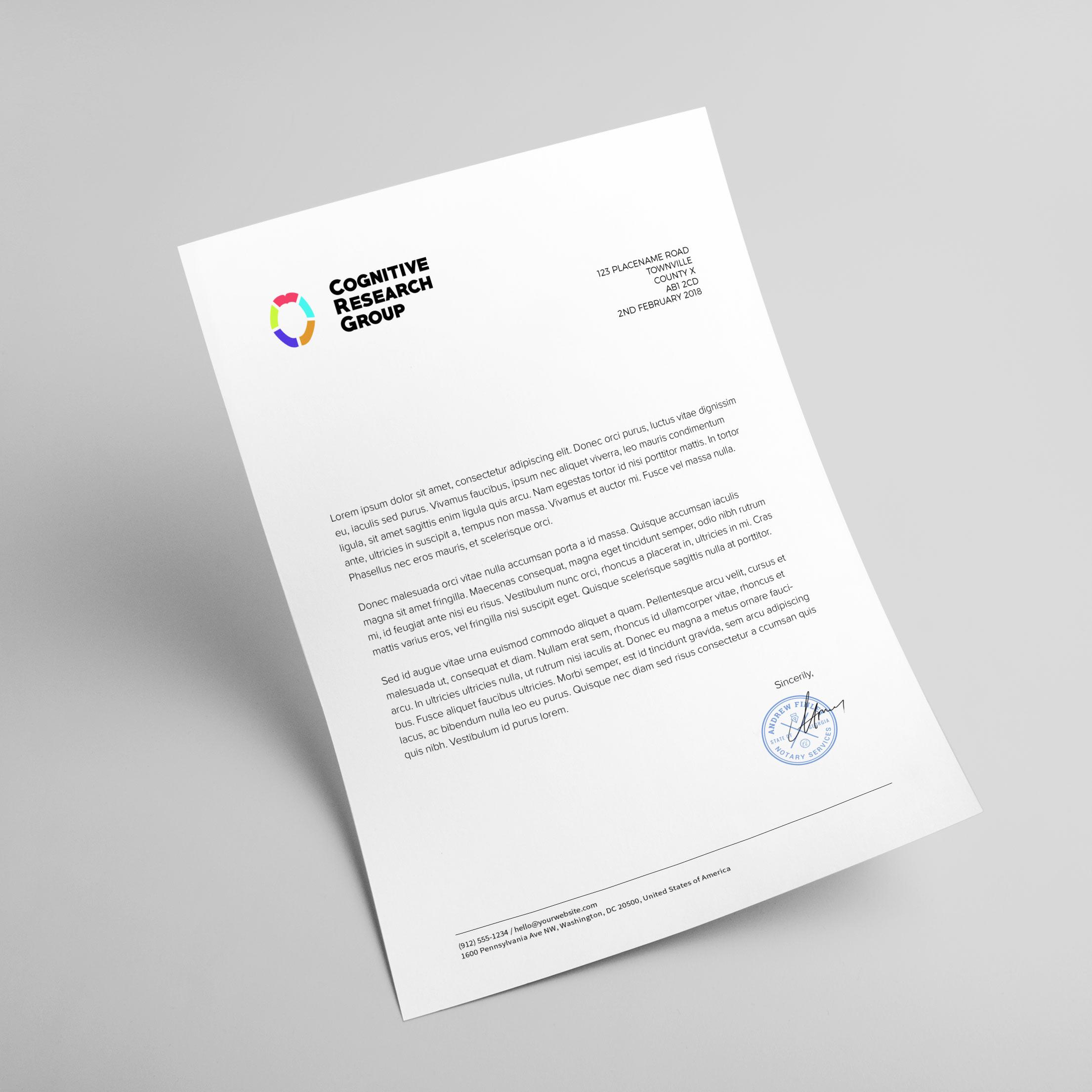 THAT Branding Company - Ethical Branding Creative Agency based in Newcastle Gateshead and Durham - CoRe Letterhead.jpg