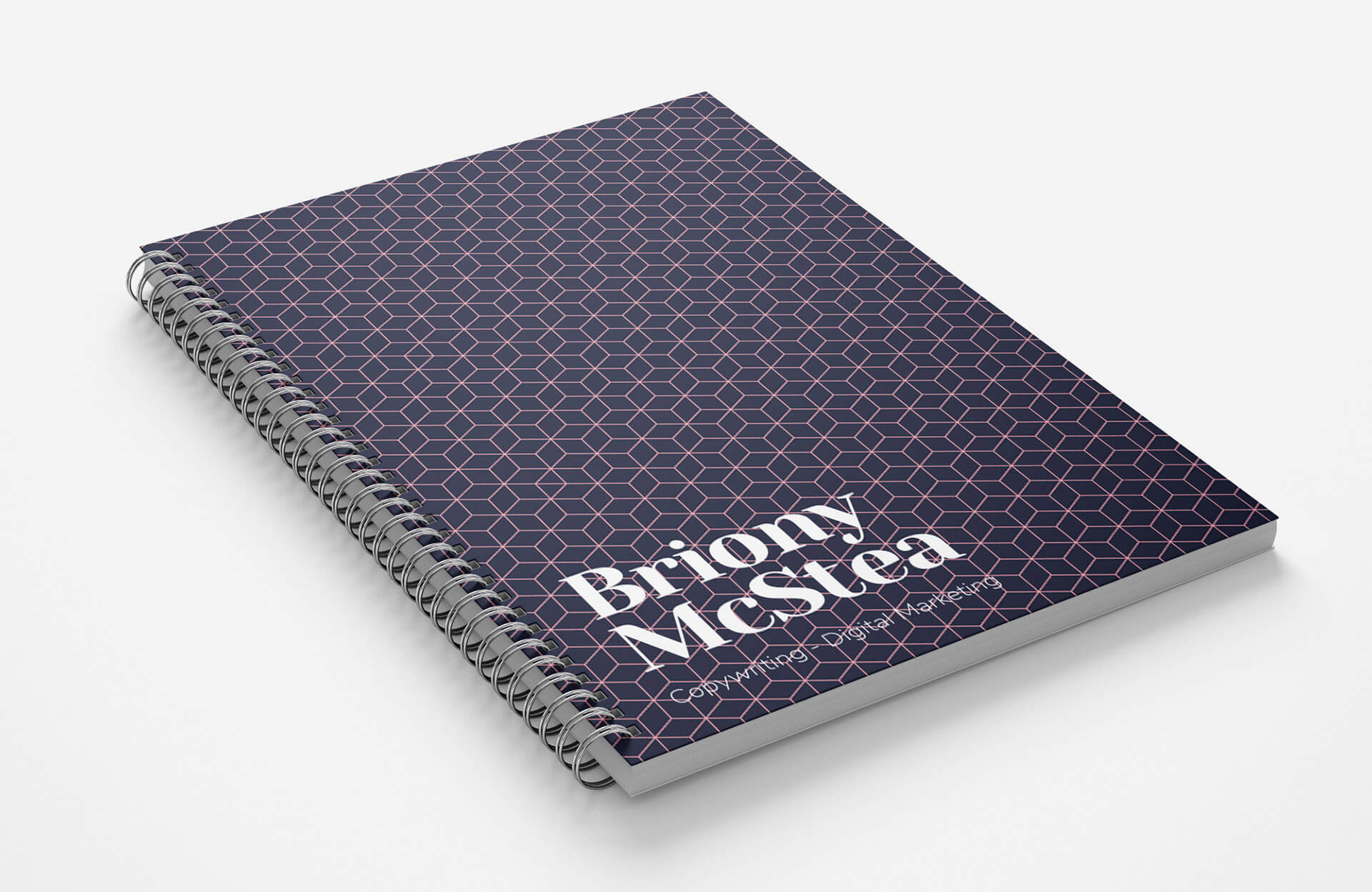 Briony McStea Spiral Notebook Mockup - THAT Branding Company - Ethical Creative Design and Branding Agency in Newcastle Gateshead and Durham - UK.jpg
