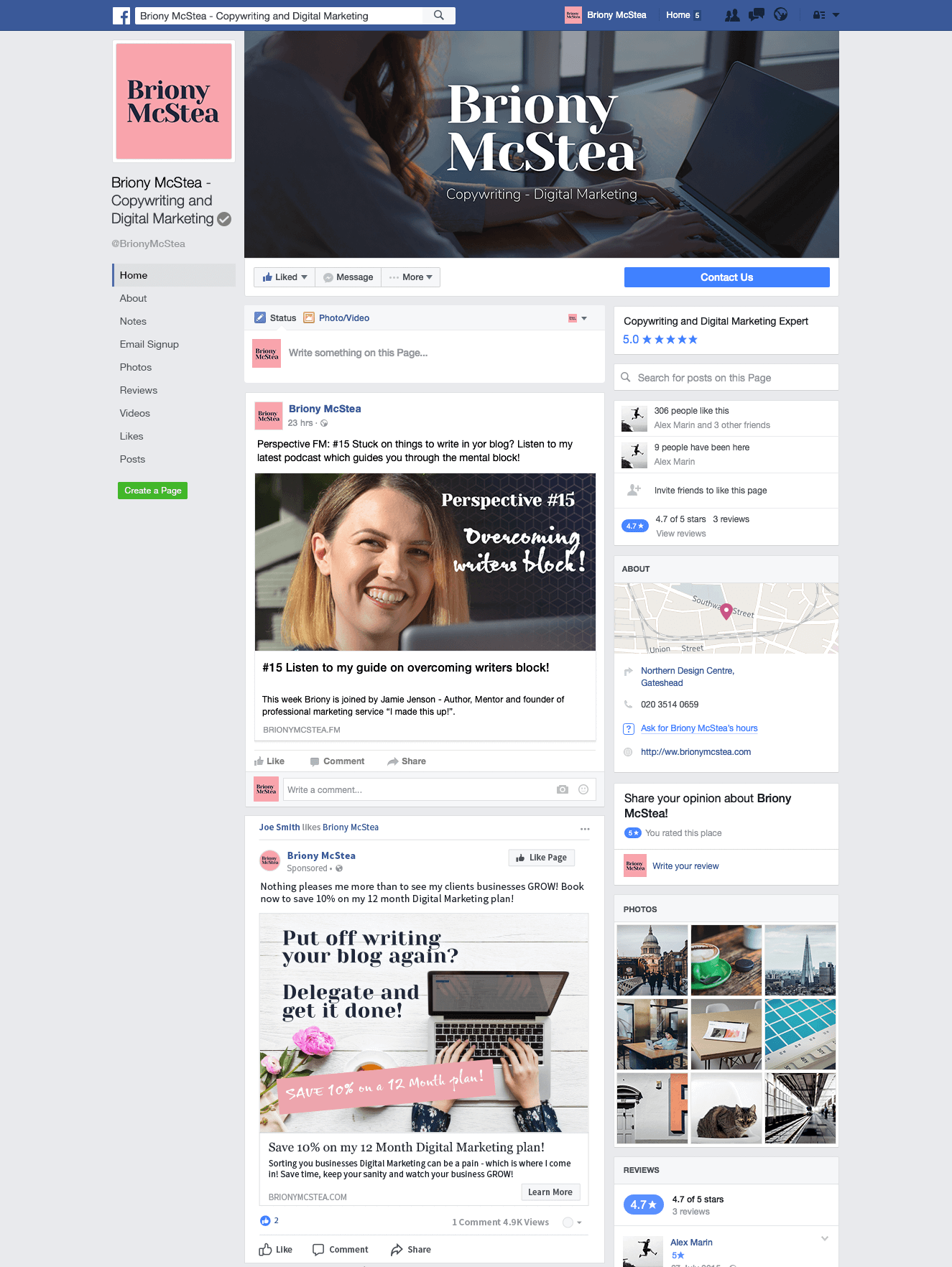 Briony McStea Facebook Mockup - THAT Branding Company - Ethical Creative Design and Branding Agency in Newcastle Gateshead and Durham - UK.png