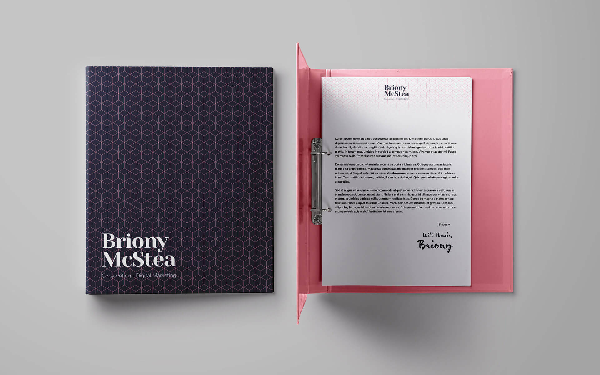 Briony McStea Binder Stationery Mockup - THAT Branding Company - Ethical Creative Design and Branding Agency in Newcastle Gateshead and Durham - UK.jpg