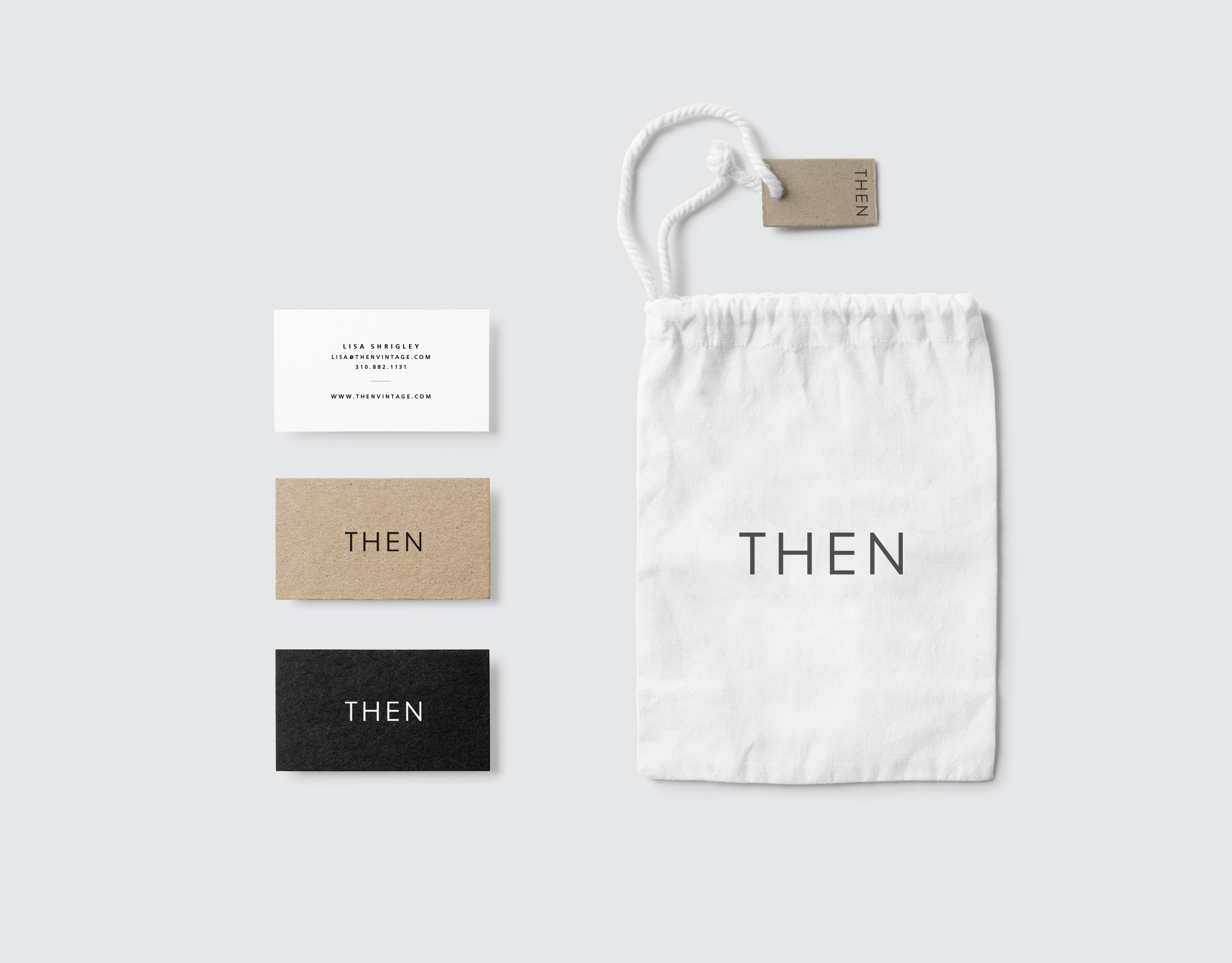 THEN Vintage - Naming + BrandingCreative Riot originated the name and brand identity of Then Vintage, an Arizona based vintage store whose aesthetic and vibe are minimal and utlitarian.