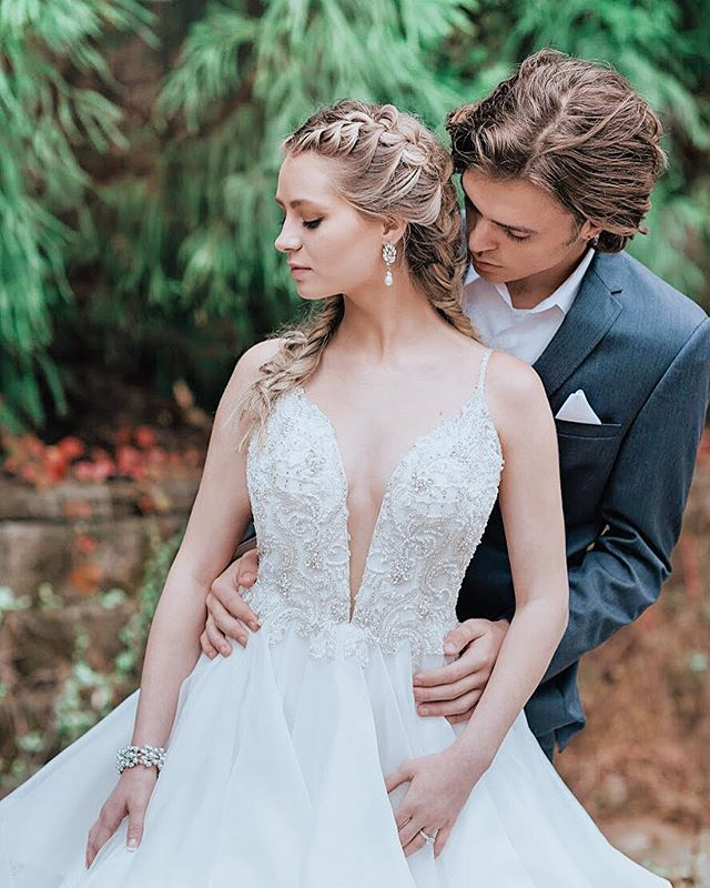 Our STERLING suit perfectly compliments our amazing CECILY gown, style 9075 | a standout ball gown with a plunging neckline and back with a ruffled skirt • Let us dress you and your wedding party head-to-toe! Call us to book your appointment! ☎️678-205-8888 Follow us @aformalaffairga 📸 @momoluxphoto • #love #instagood #fashion #beautiful #liveauthentic #ftw #tbt #picoftheday #thatsdarling #instadaily #feelfreefeed #beauty #wedding #instafashion #dress #fashionblogger #forever #bride #wow #weddingday #weddingdress #weddingphotography #bridal #weddings #dresses #weddinginspiration #bridetobe #marriage #engaged #instawedding