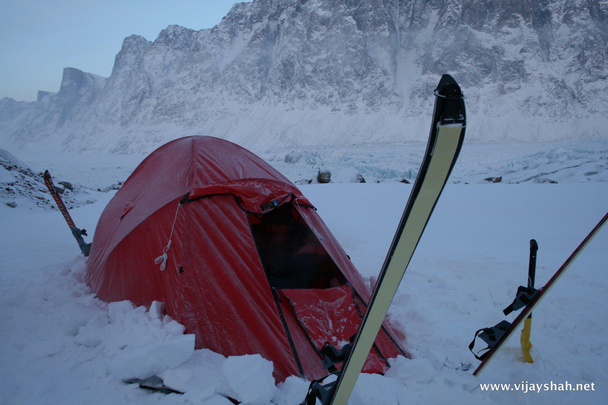 Camping at -35C