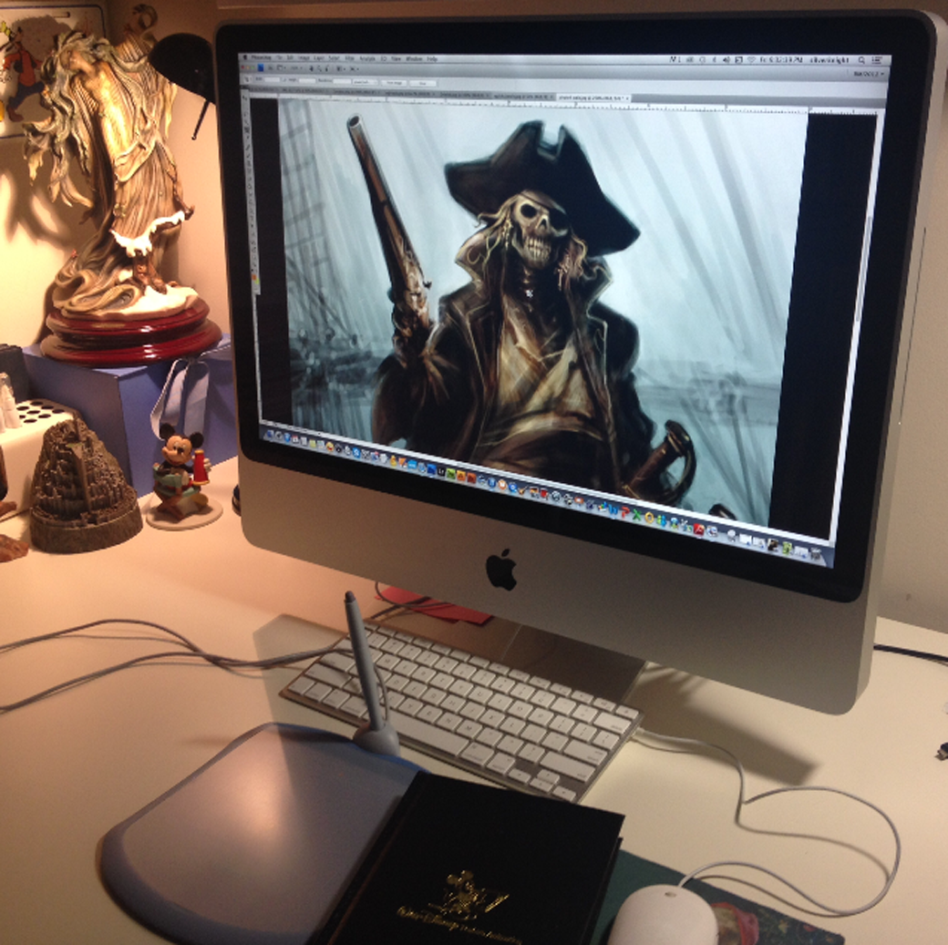 "pirate 9"" x 12""digital art ©rolandmechael2013 all rights reserved"