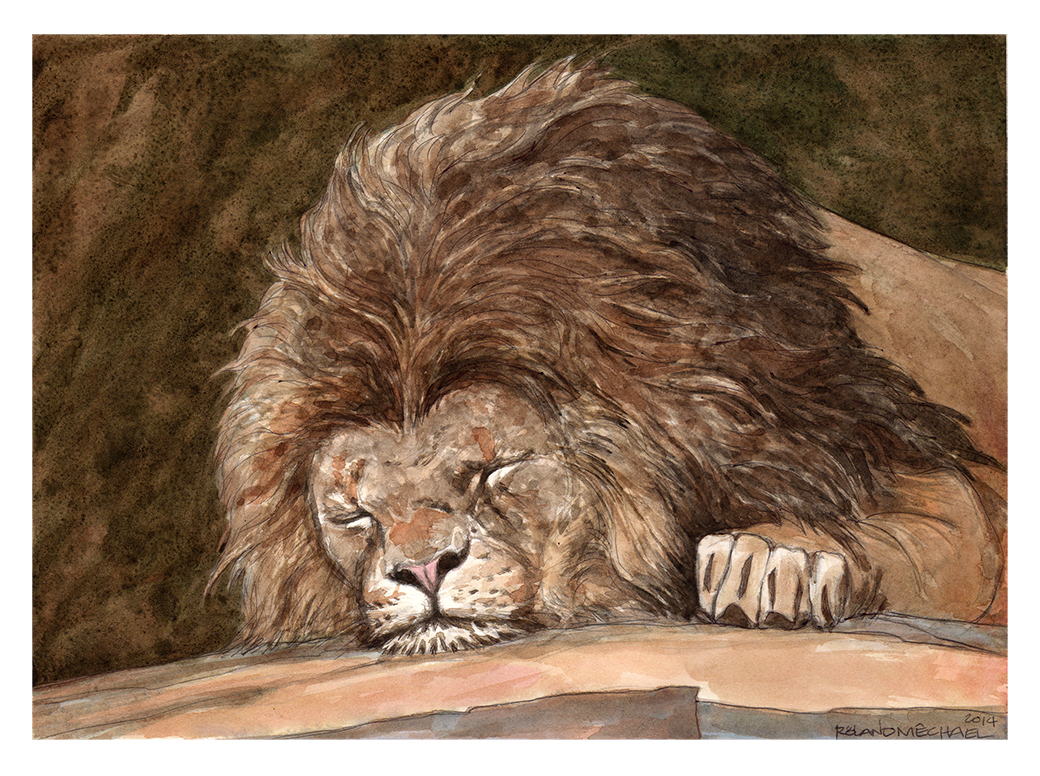 """""""repose"""" 9"""" x 12"""" Watercolor ©rolandmechael2014 All rights reserved."""
