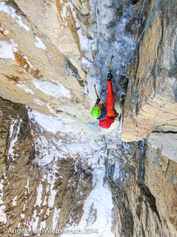 Nikki Smith following the second pitch on the first ascent of The One Who Knocks.