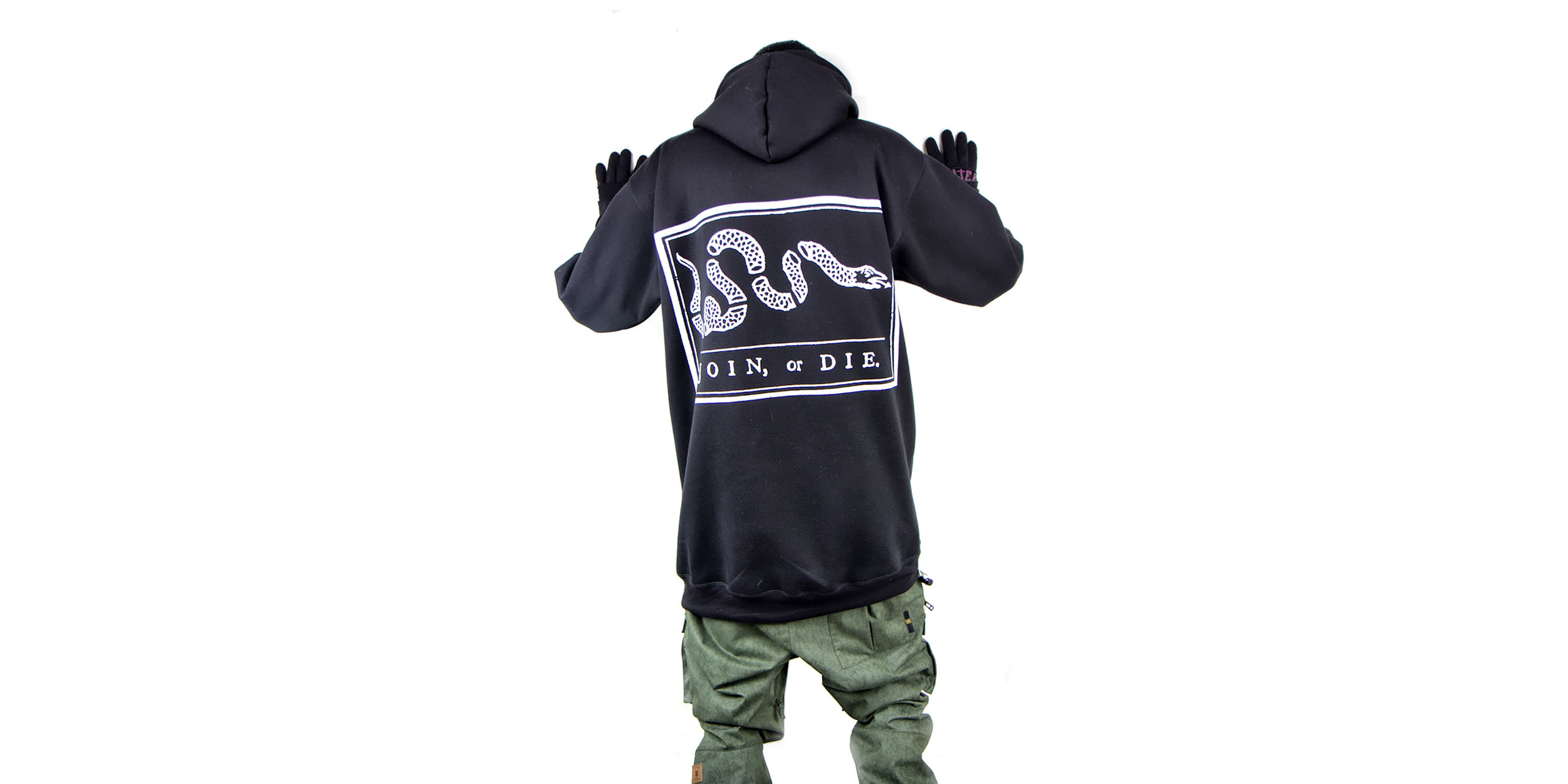 Winter hoody - Join or Die print.