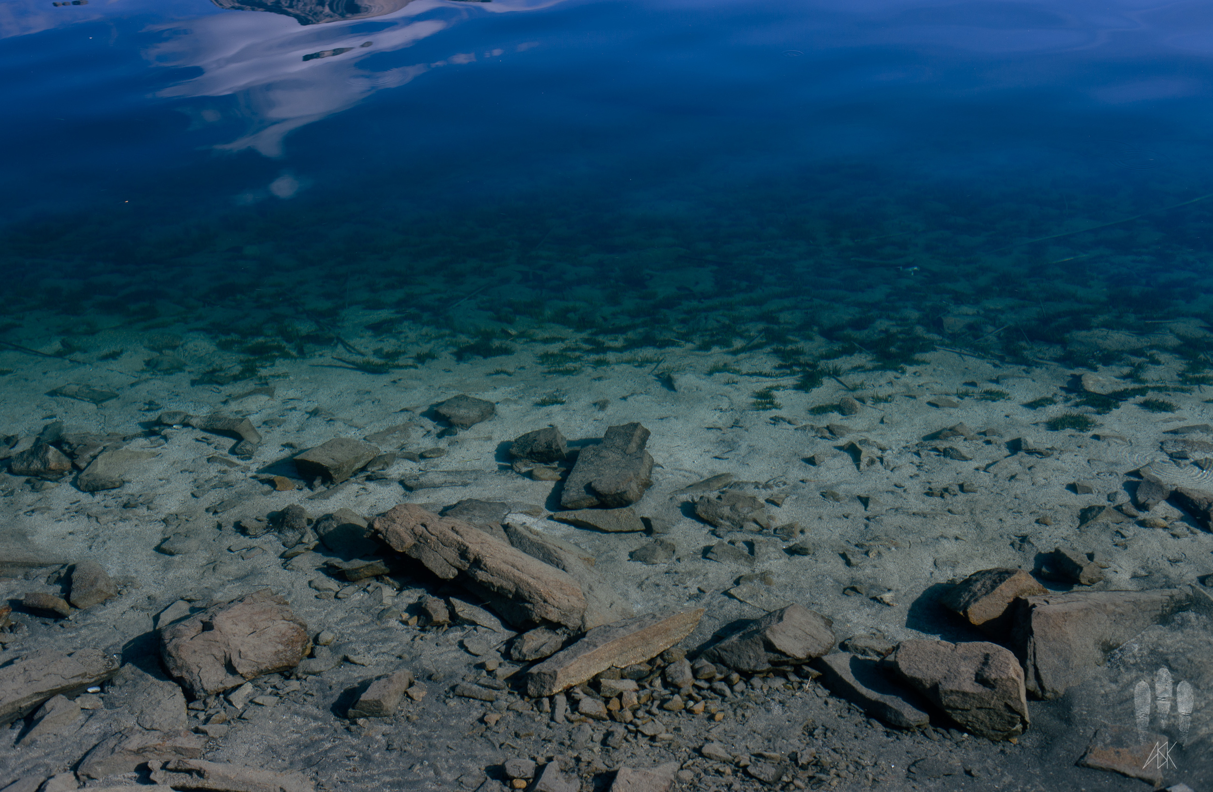 Crystal clear waters of Lago Nahuel Huapi