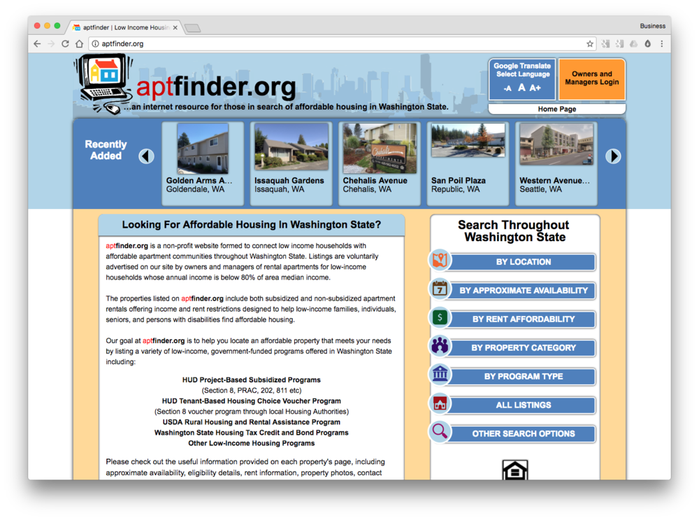 HANDSHAKE - Universal application for low-income housing in