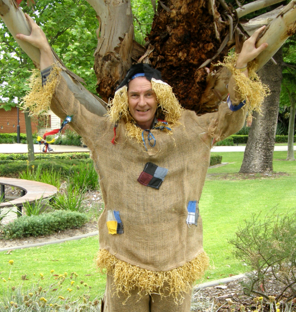 Tim Prosser drew the short straw to play Scarecrow in The Wizard of Oz.     Picture: Sarah Christiner