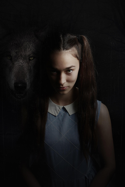 Tessa Bevilacqua plays nine-year-old Lizzie, accused of murder, in  Wolf Lullaby . Picture: Kate Sanders-Tye, Verge Studios.