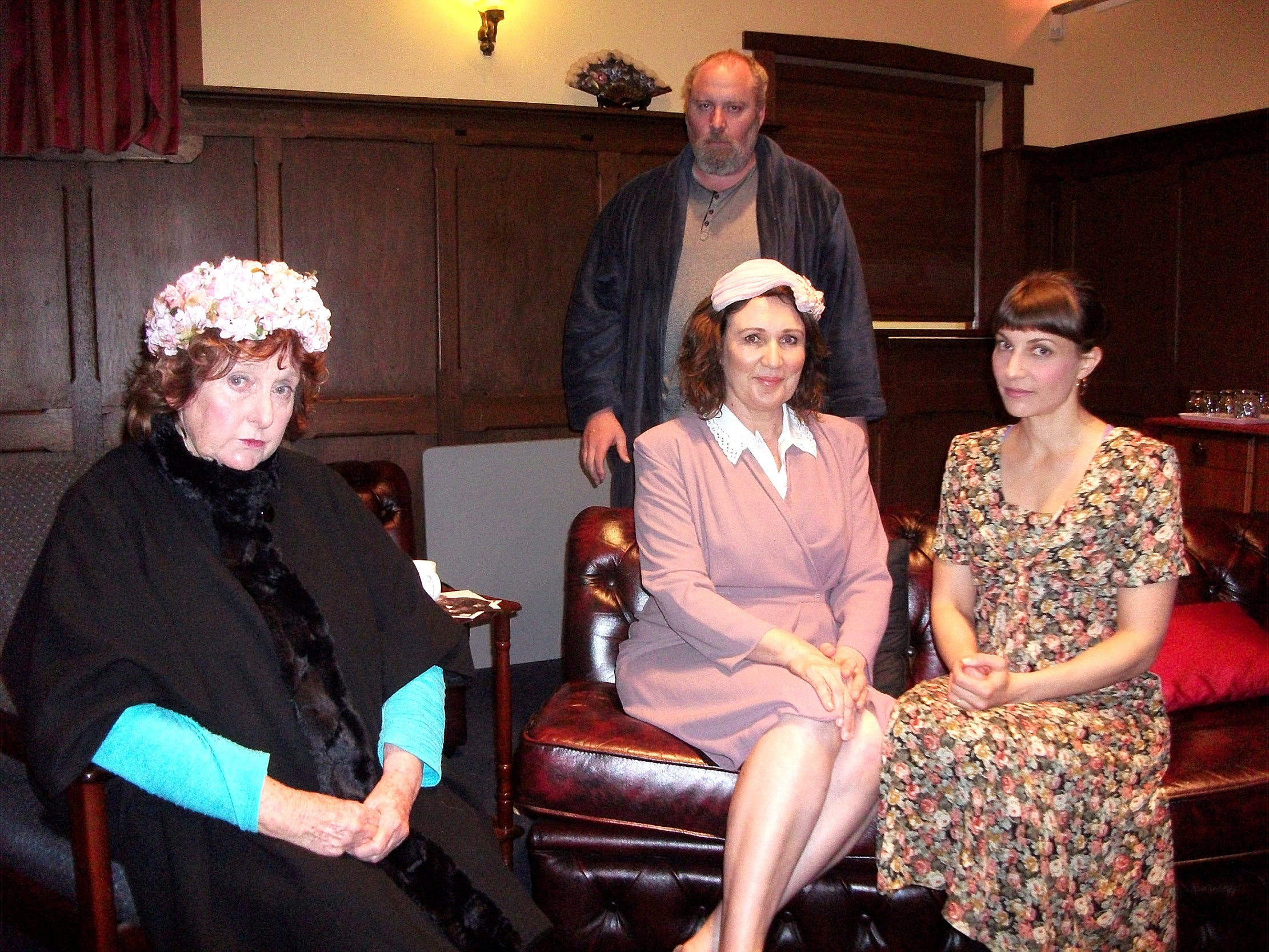 Kerry Goode, left, Andrew Watson, playwright Yvette Wall and Natalie Aung Than are appearing in  Dolls From The Sky  at the Old Mill Theatre.