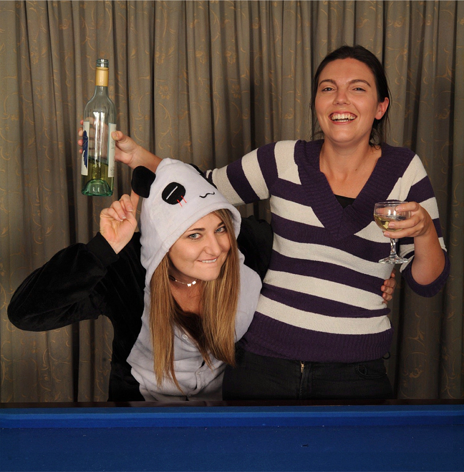 Jenny Palmer, left, and Ruhama Geiger explore the truth over a game of pool and glass of wine in  Never Ever . Picture: Michael McAllan