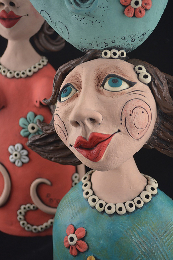 Ceramic works by Louise Simonette