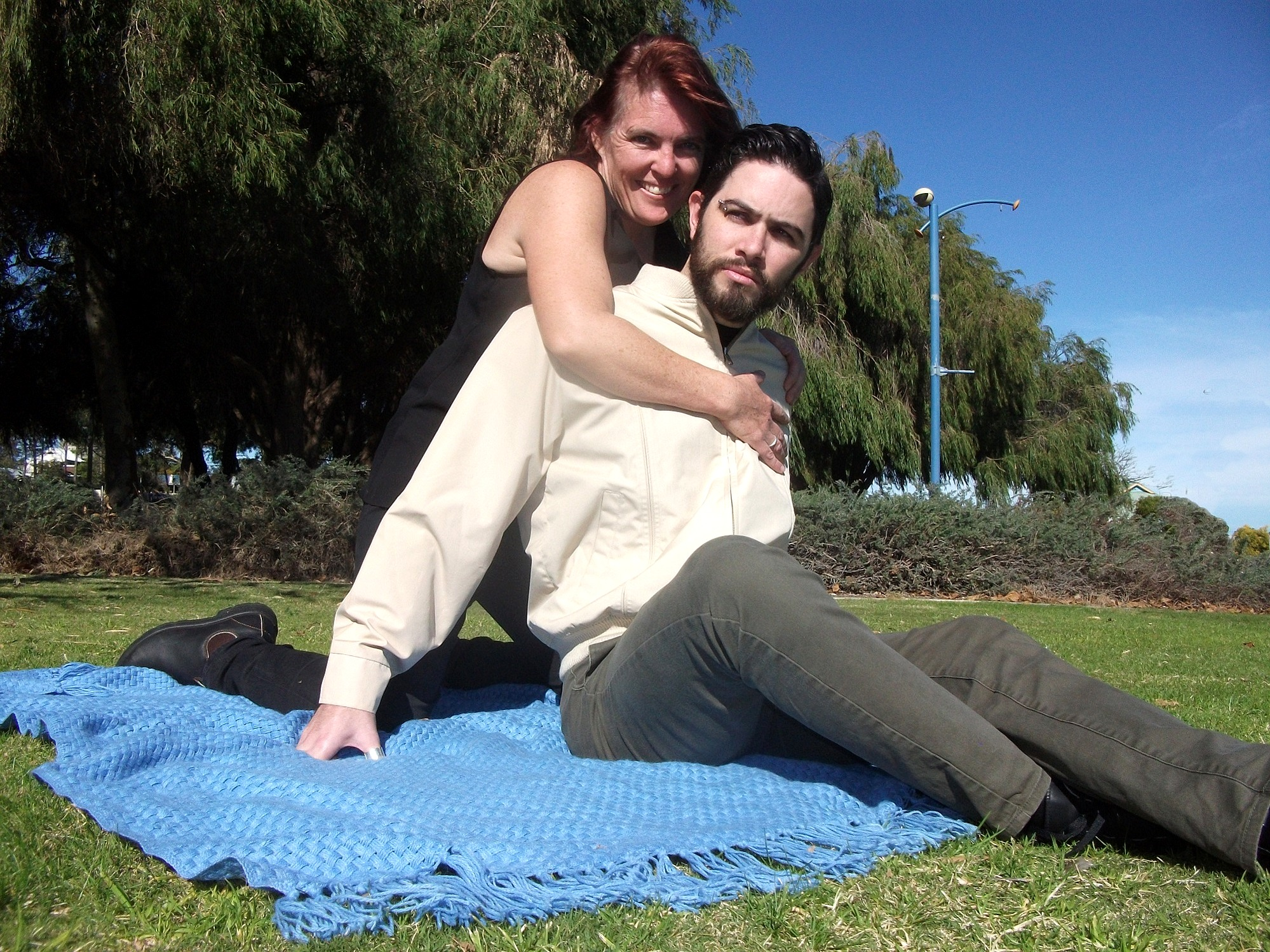 Under The Blue Sky  features Petrina Harley as Michelle and Zac Bennett-McPhee as Graham.