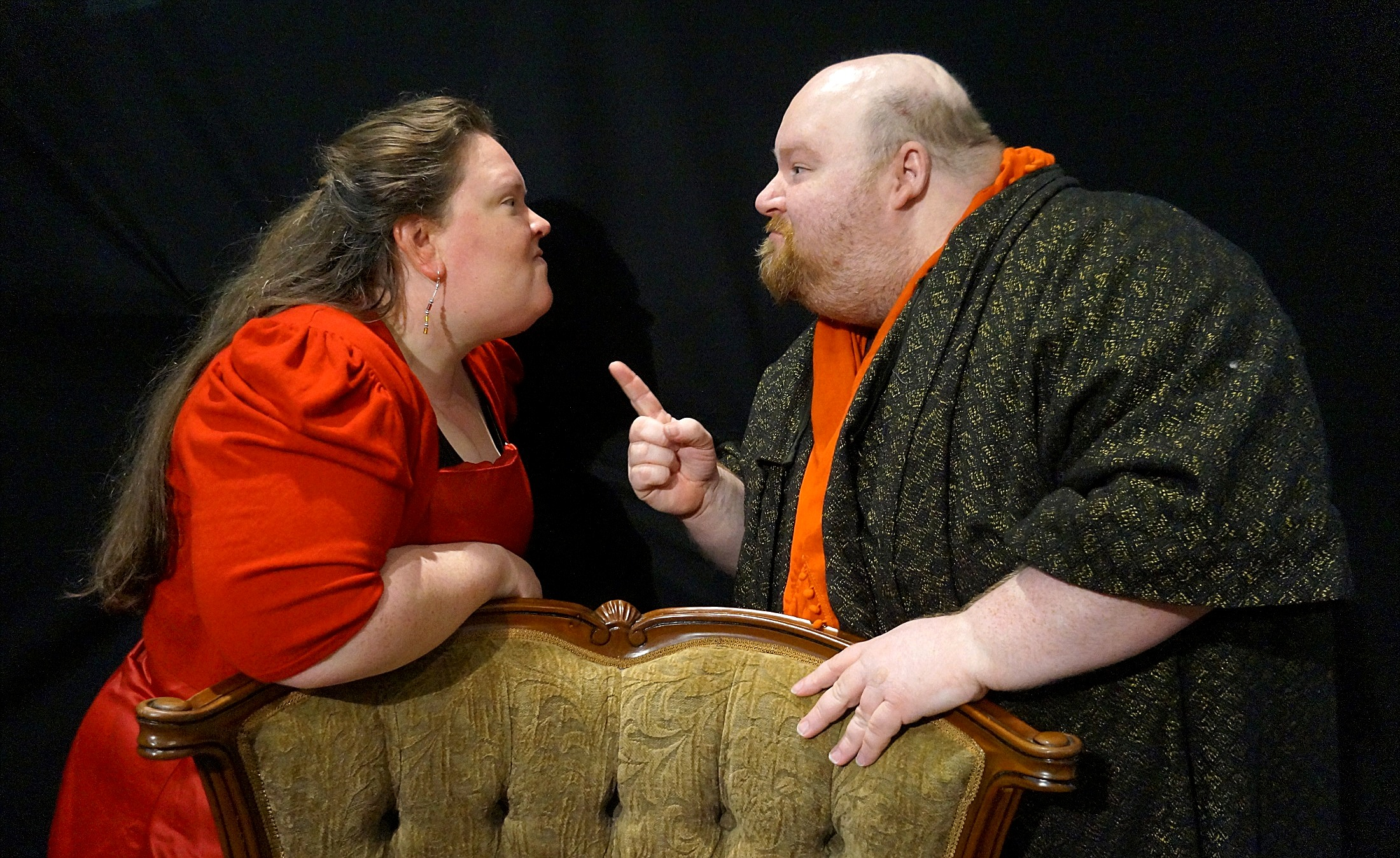 Real-life husband and wife Joanne and Michael Lamont play the lovers Beatrice and Benedick in  Much Ado About Nothing .