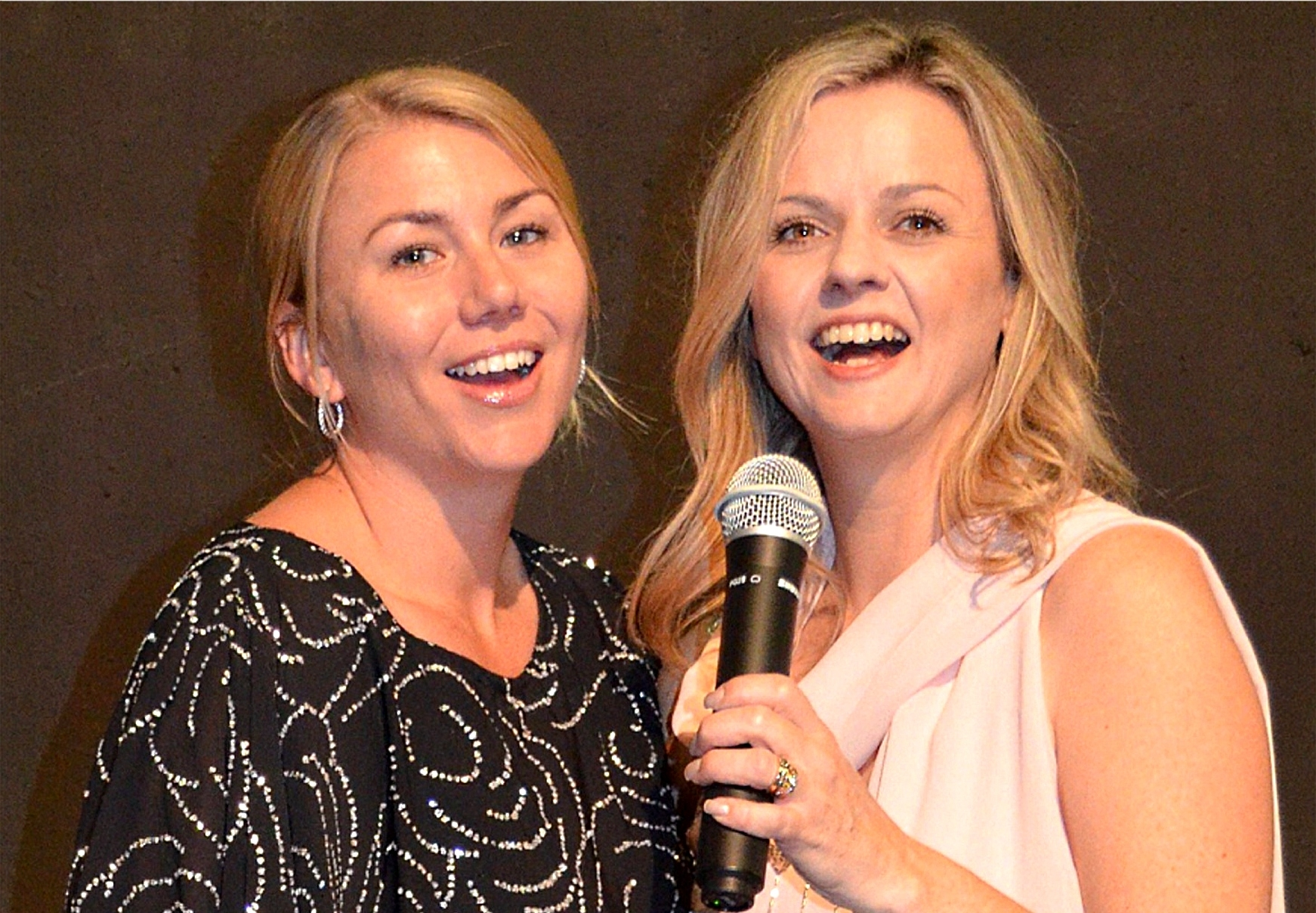 Naomi Cooper, left, and Genevieve Newman are on song for  The Envelope Please  at Limelight Theatre.