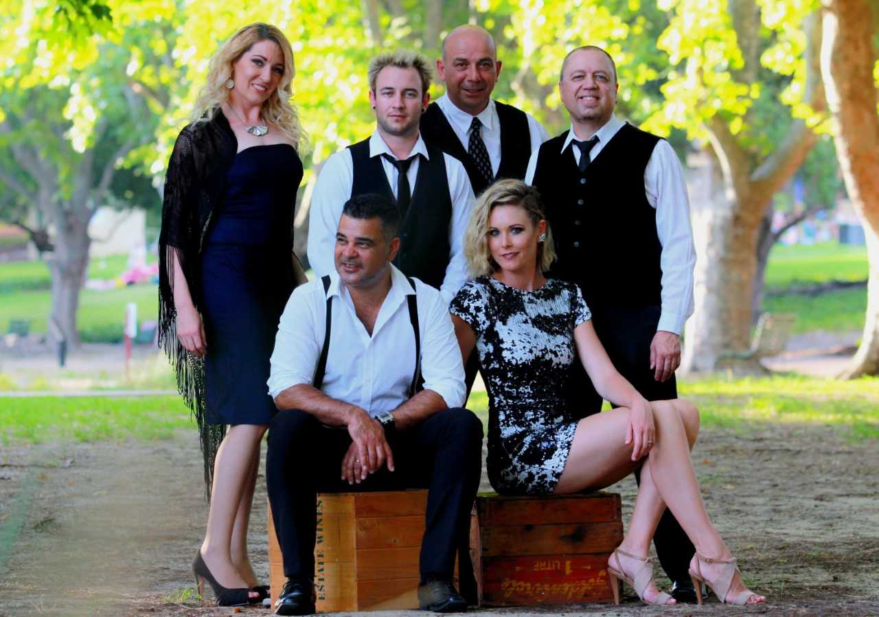 The sizzling six-piece Hi-NRG play at Dot Bennett Park in Nedlands on February 24.