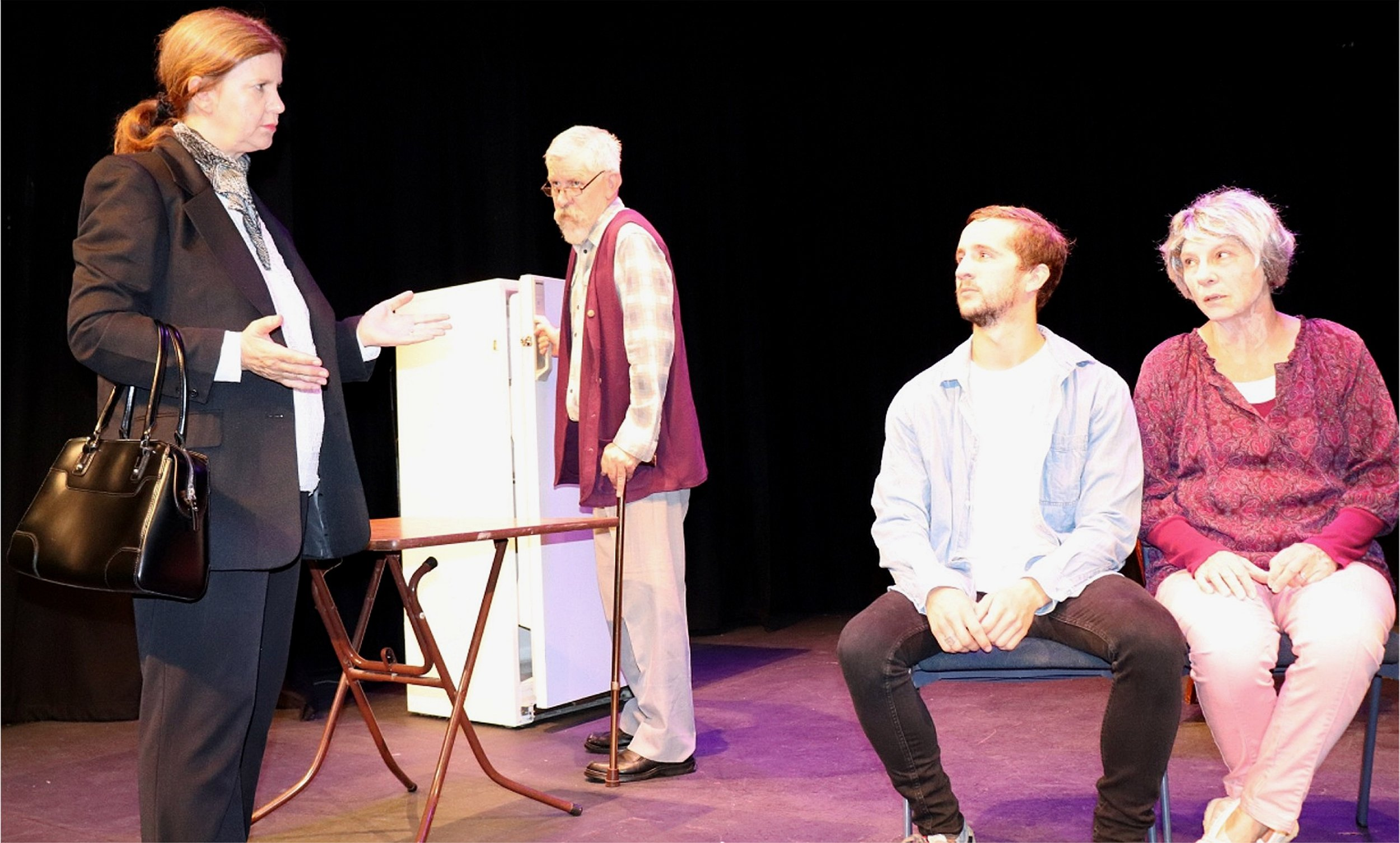 The Greening of Grace features Michele Diston, left, Michael Balmer, Elias Cuzens and Sharon Menzies.