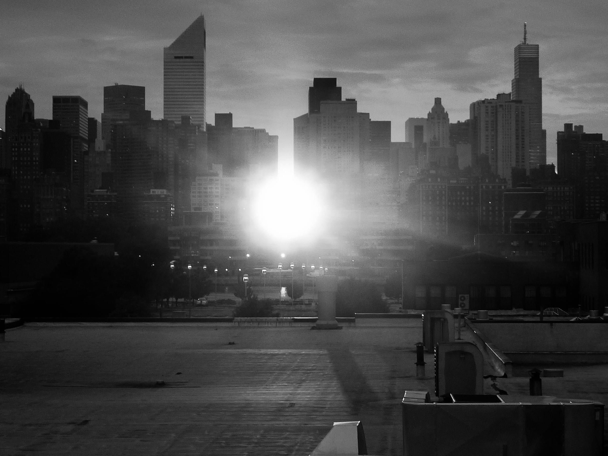 Manhattanhenge as seen from the studio.
