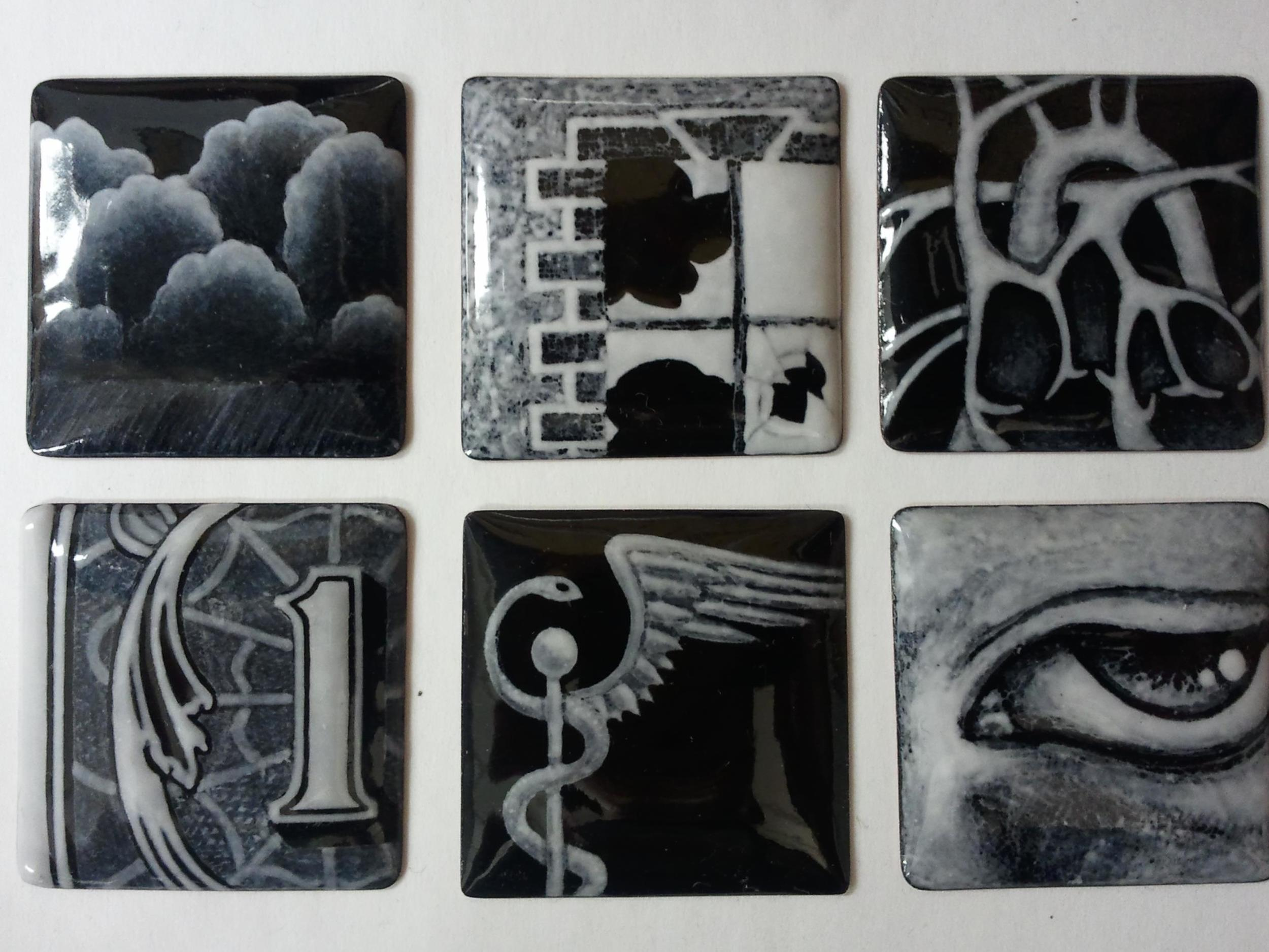 More traditional versions of grisaille, using an opaque black.