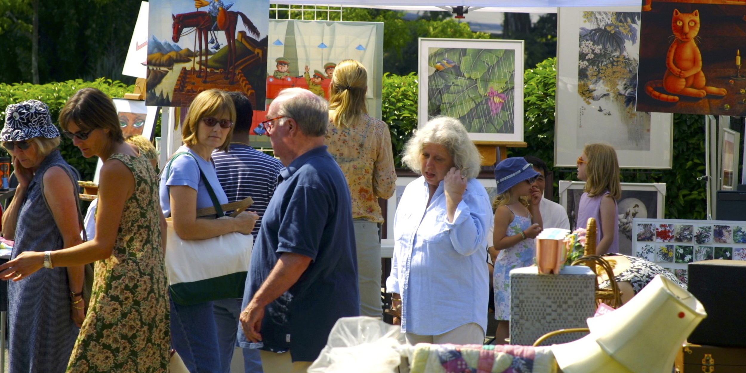 VINTAGE, VINTAGE, ANTIQUE, ORIGINAL AND OUTSIDER ART ALL MAKES AN APPEARANCES HERE