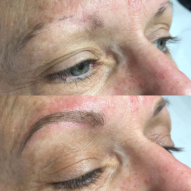 Before / after 💖💖 #brows #eyebrowtattoo #eyebrows #browsonfleek #browgame #newbrows #hairstrokes #microblading #microstroking #permanentmakeup #spmu #slo #805 #sanluisobispo #natural #shareslo #tigerlilysalon #centralcoast #eyebrowembroidery #browembroidery #3deyebrows #3dbrows #6dbrows #archaddicts #bentonbrows #softap #softapbrows #powderbrows #healedbrows