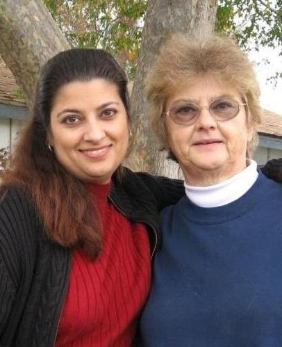 Lillian Chaudhary and her daughter, Anita
