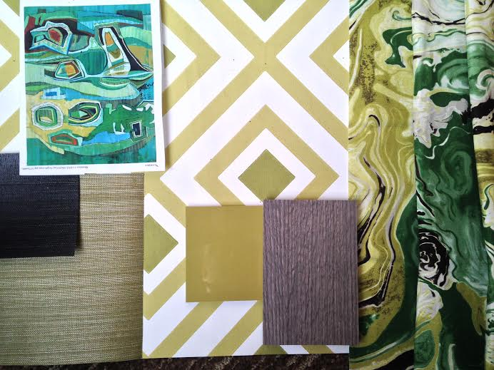 A section of my mood board for the Modernism Week Showhouse Kitchen