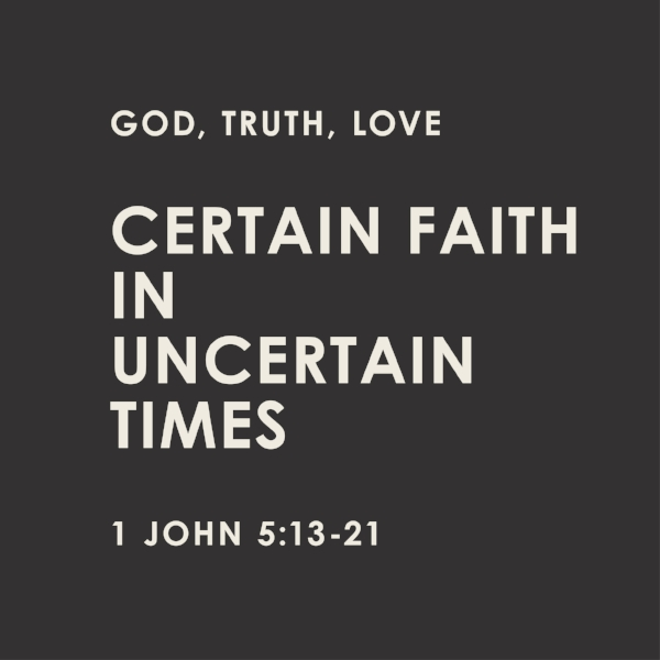 We have certain faith that is rooted in Jesus Christ -