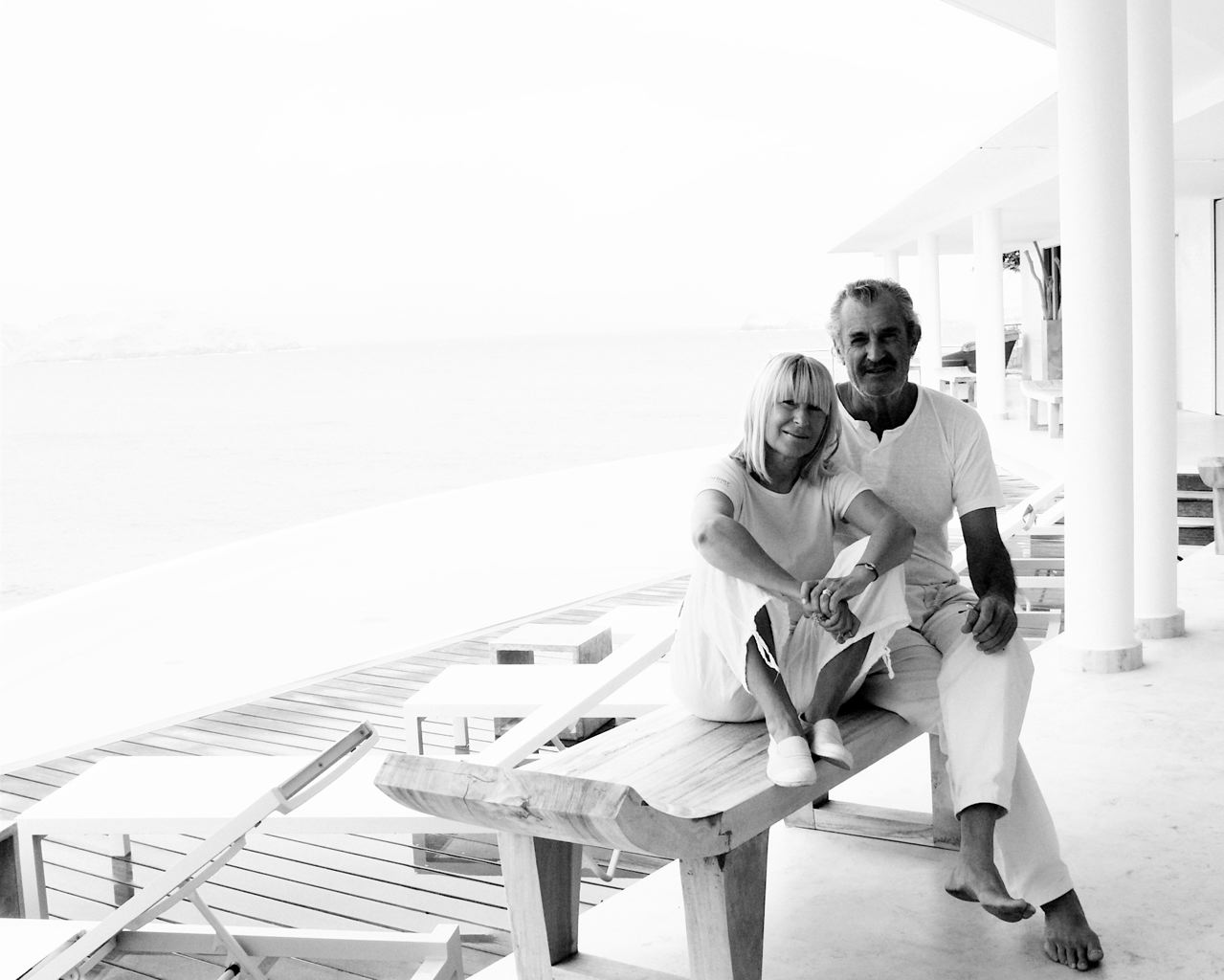 ELLE MARCH CONDE + PHOTOGRAPHER JACK ZOLTY AT THE STRAND HOUSE ST. BARTH
