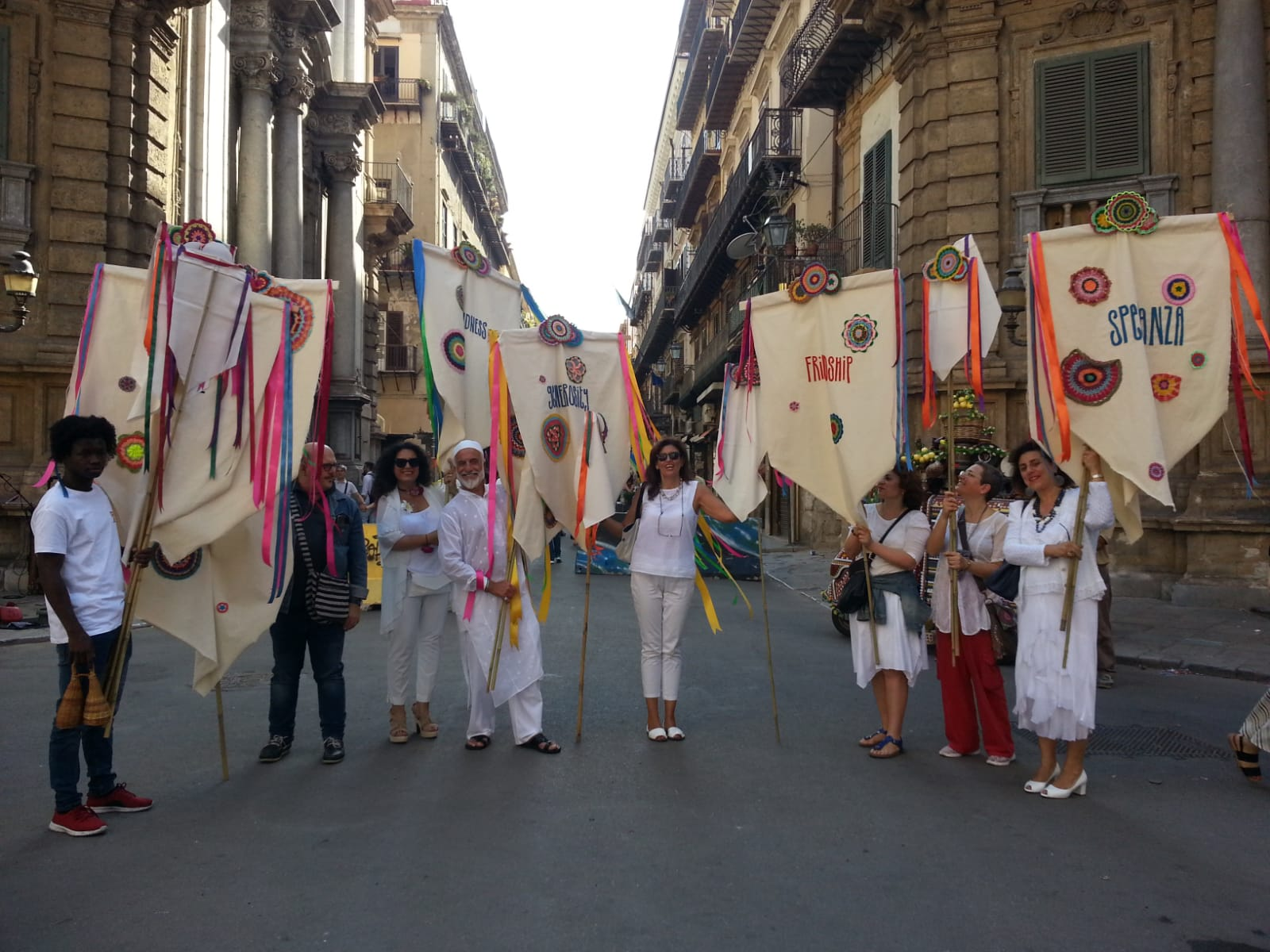 - Kate Daudy's 'Am I My Brother's Keeper?' travelled eastwards to Italy, where banners were paraded through the streets of Palermo.