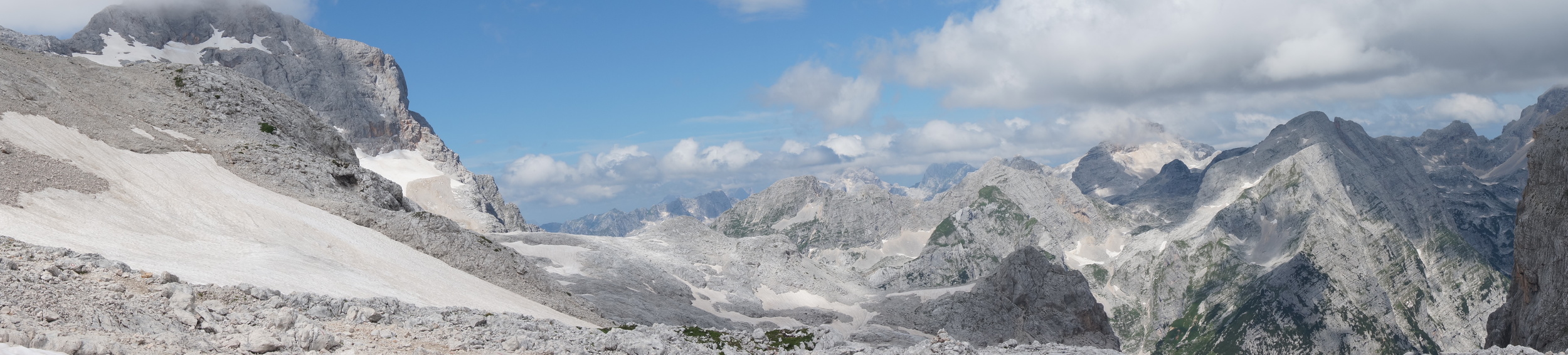View from our Triglav (missing peak on the left) climb
