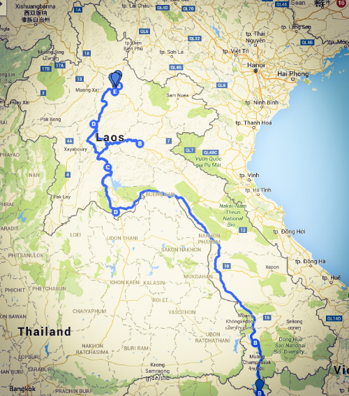 THE ROUTE (GOOGLEMYMAPS)
