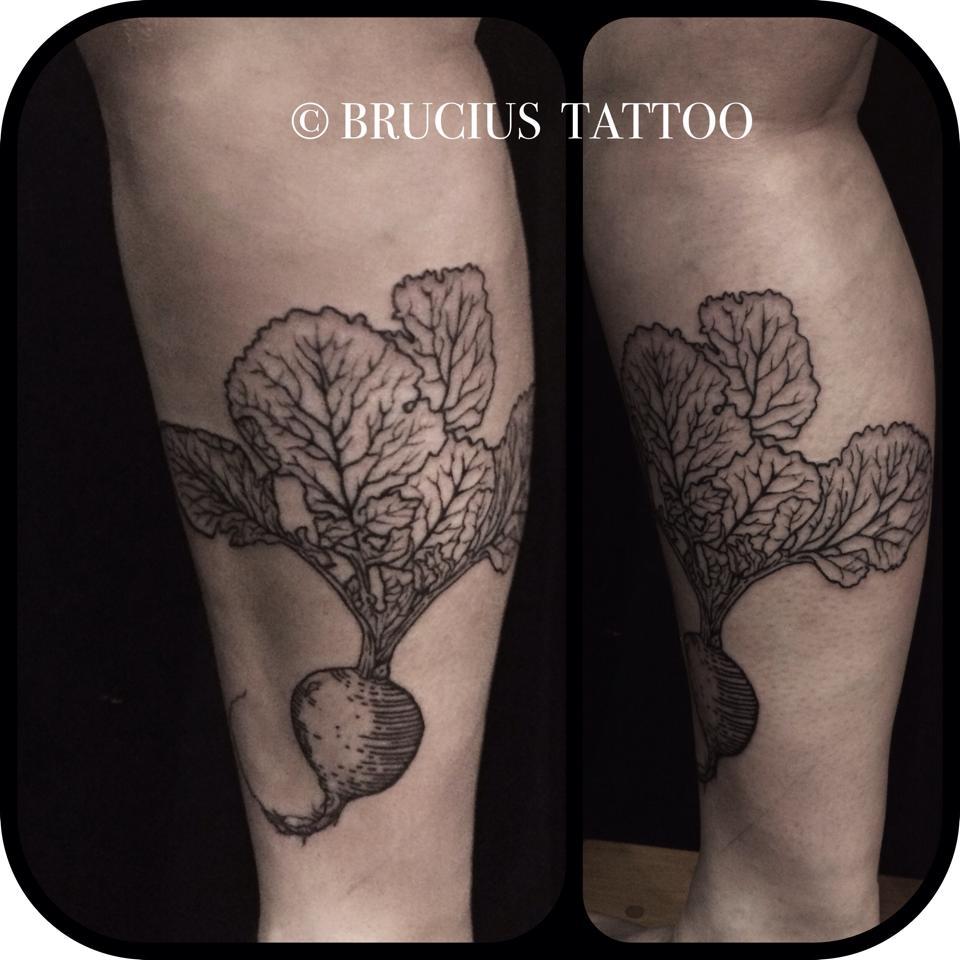 Etching tattoo engraving blackwork by Brucius