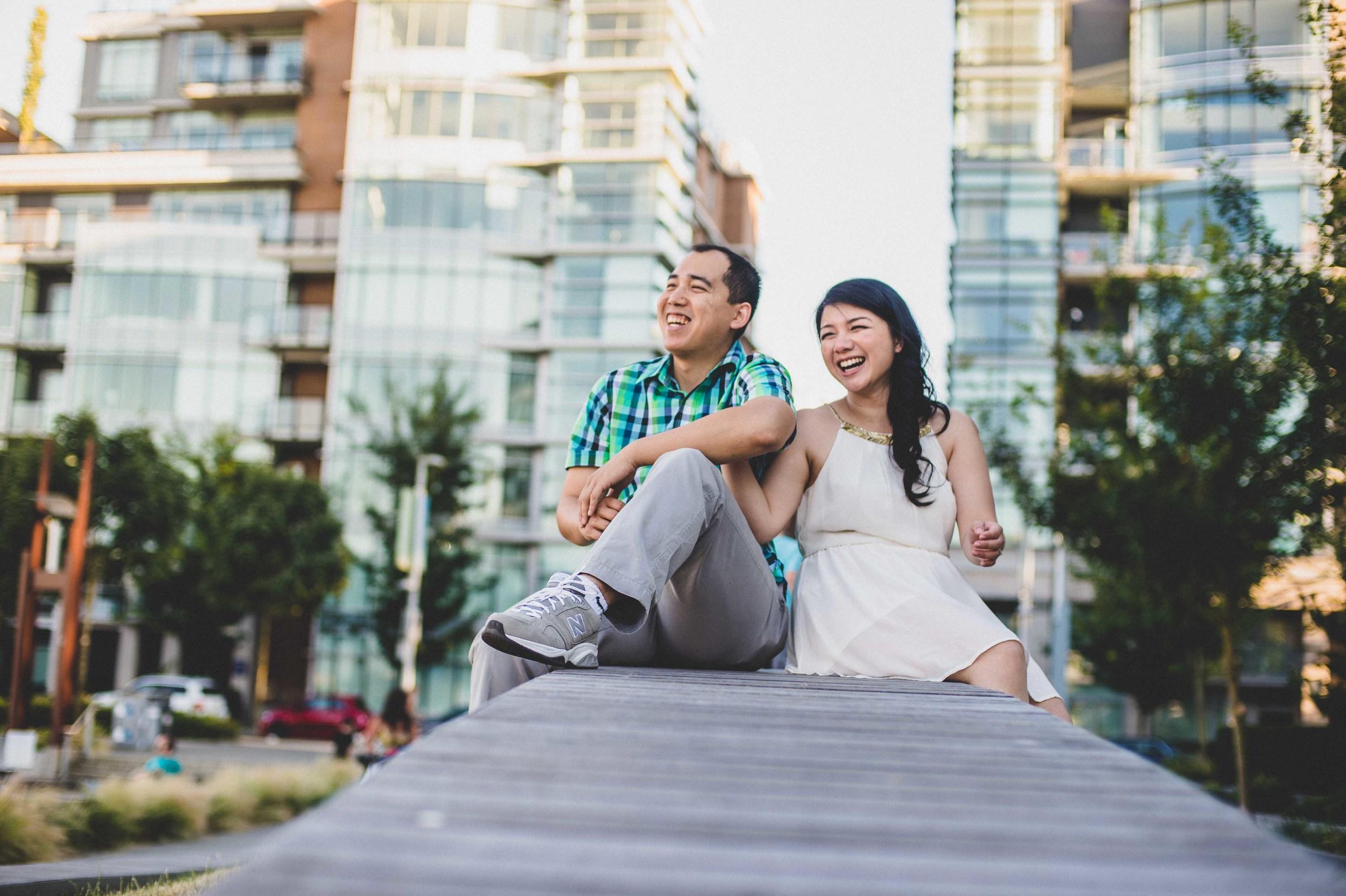 Vancouver Olympic Village Engagement Photography edward lai