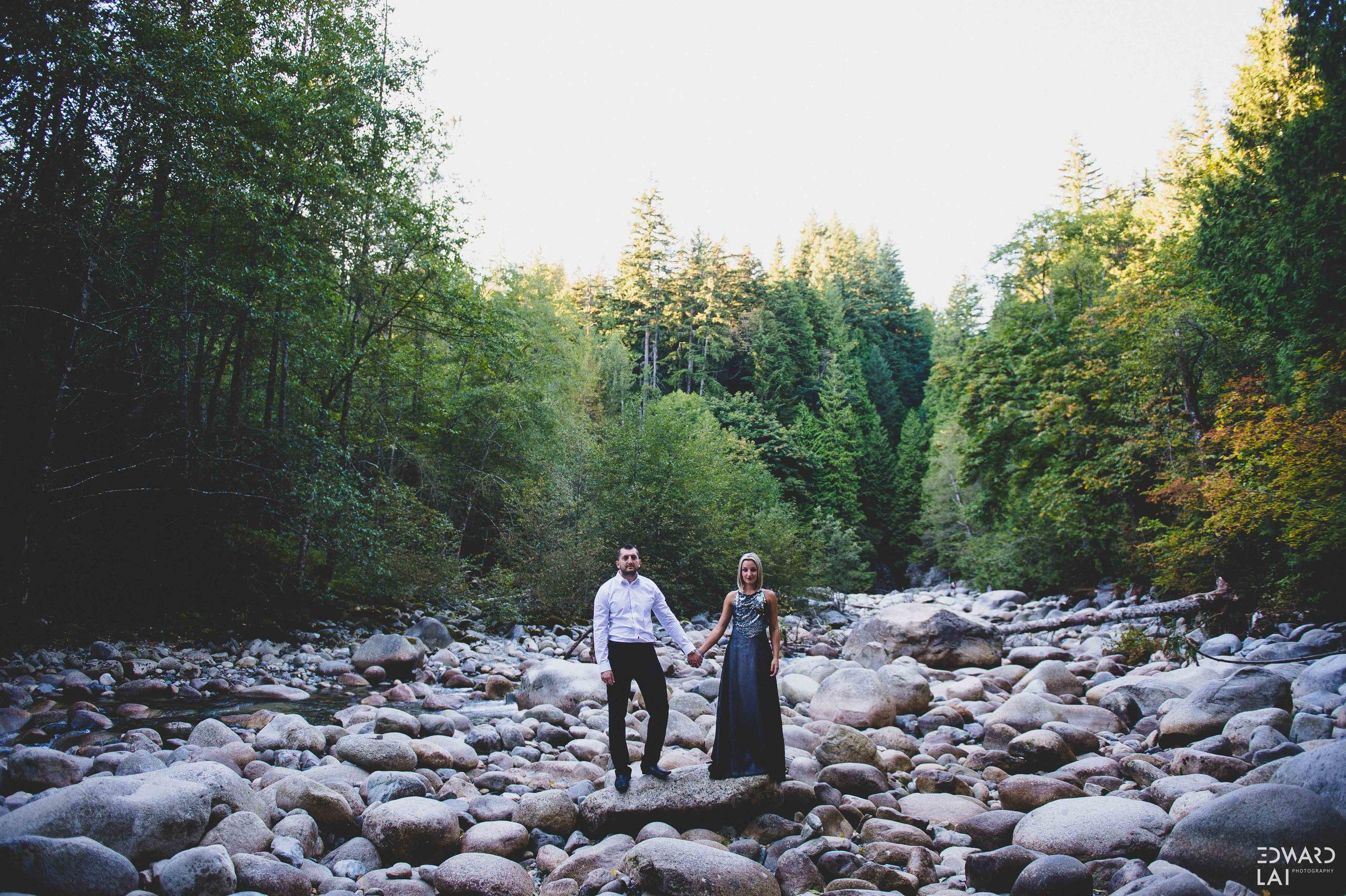 Vancouver engagement photography lynn canyon suspension bridge edward lai photographer