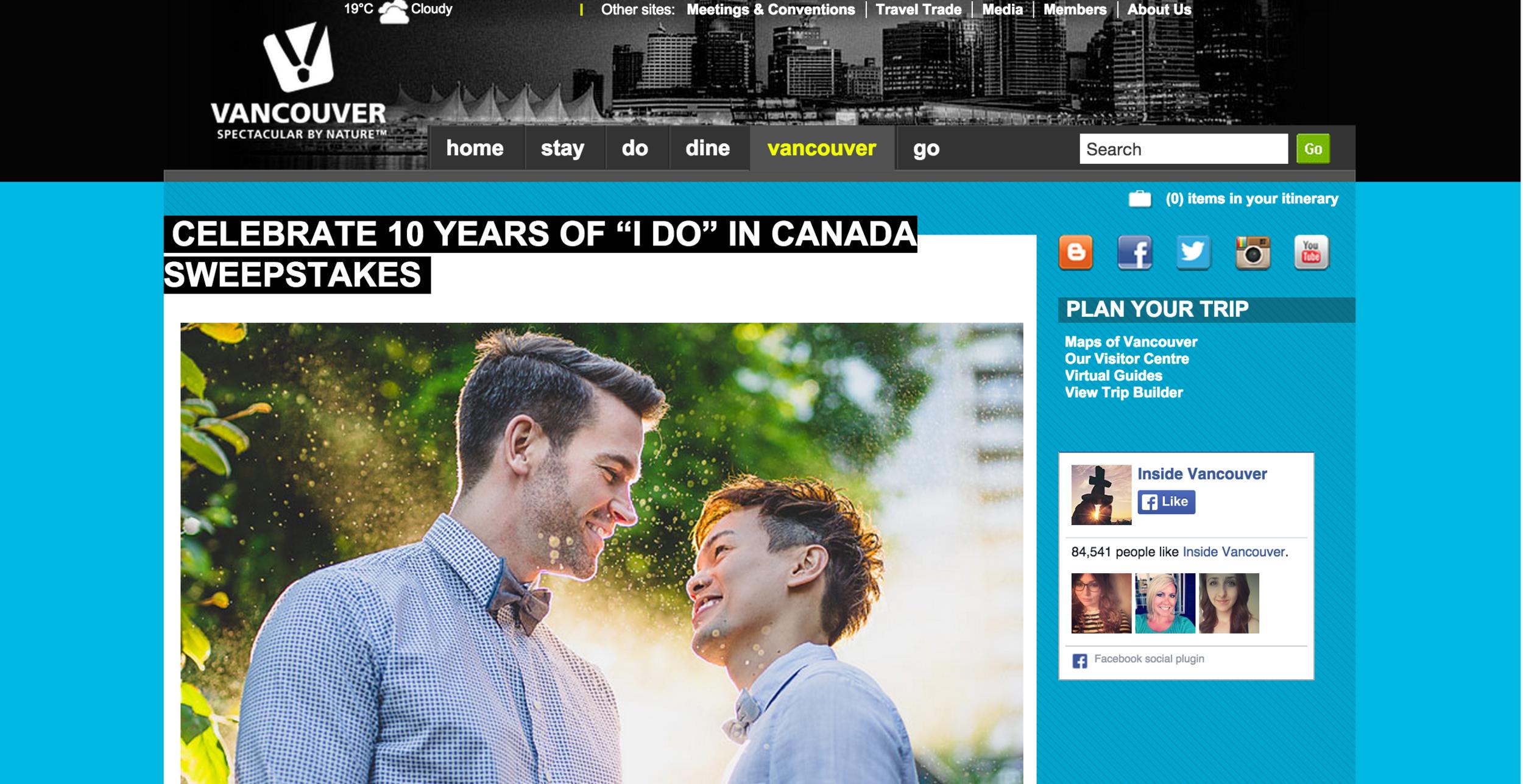 Vancouver same sex marriage wedding photography
