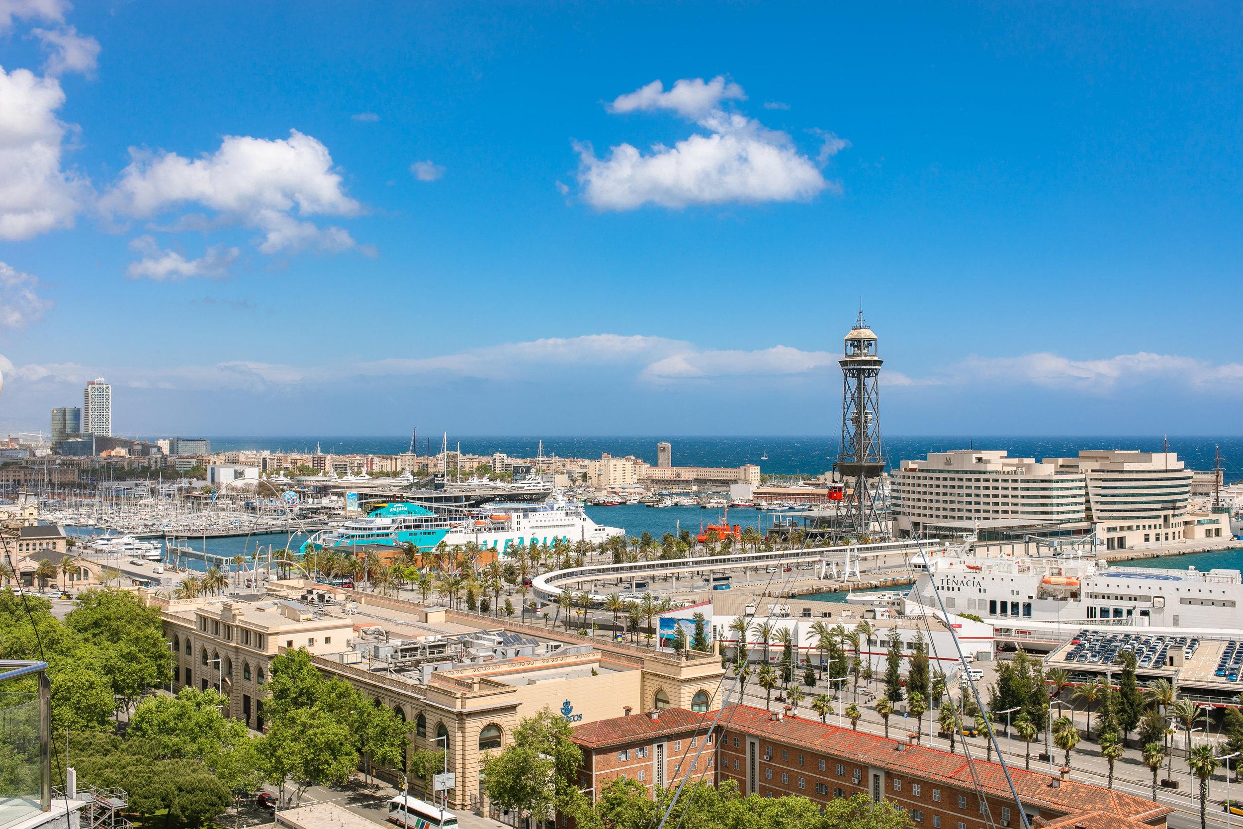 Barcelona's cruise terminal area.