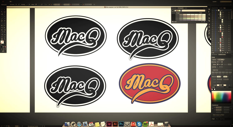 Når jeg har typografien, semiotikken og gestalt i navnetrækket på plads, begynder jeg at arbejde med proportionerne i det der skal blive et færdigt logo. De er de små detaljer, som betydernoget - stregtykkelsen, rummet i og omkring navnetrækket og om jeg selvfølgelig selv synes det er DOPE!! Hahaha... for ellers afleverer jeg det simpelthen ikke. Om jeg så skal på overarbejde. Jeg afleverer ikke noget, der ikke er DOPE! Så det endelige resultat, må I vente spændt på.